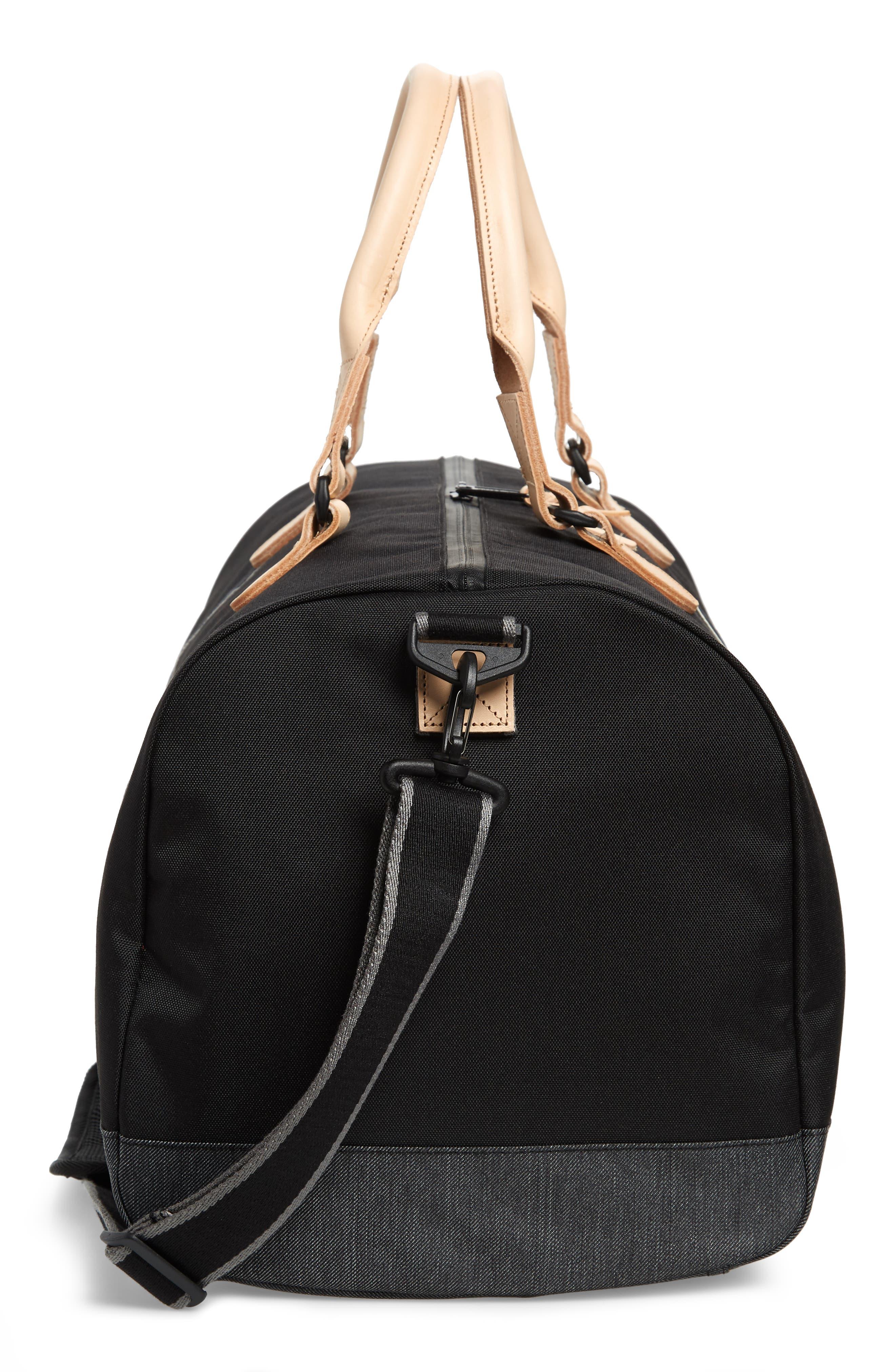 Novel Offset Denim Duffel Bag,                             Alternate thumbnail 5, color,                             012