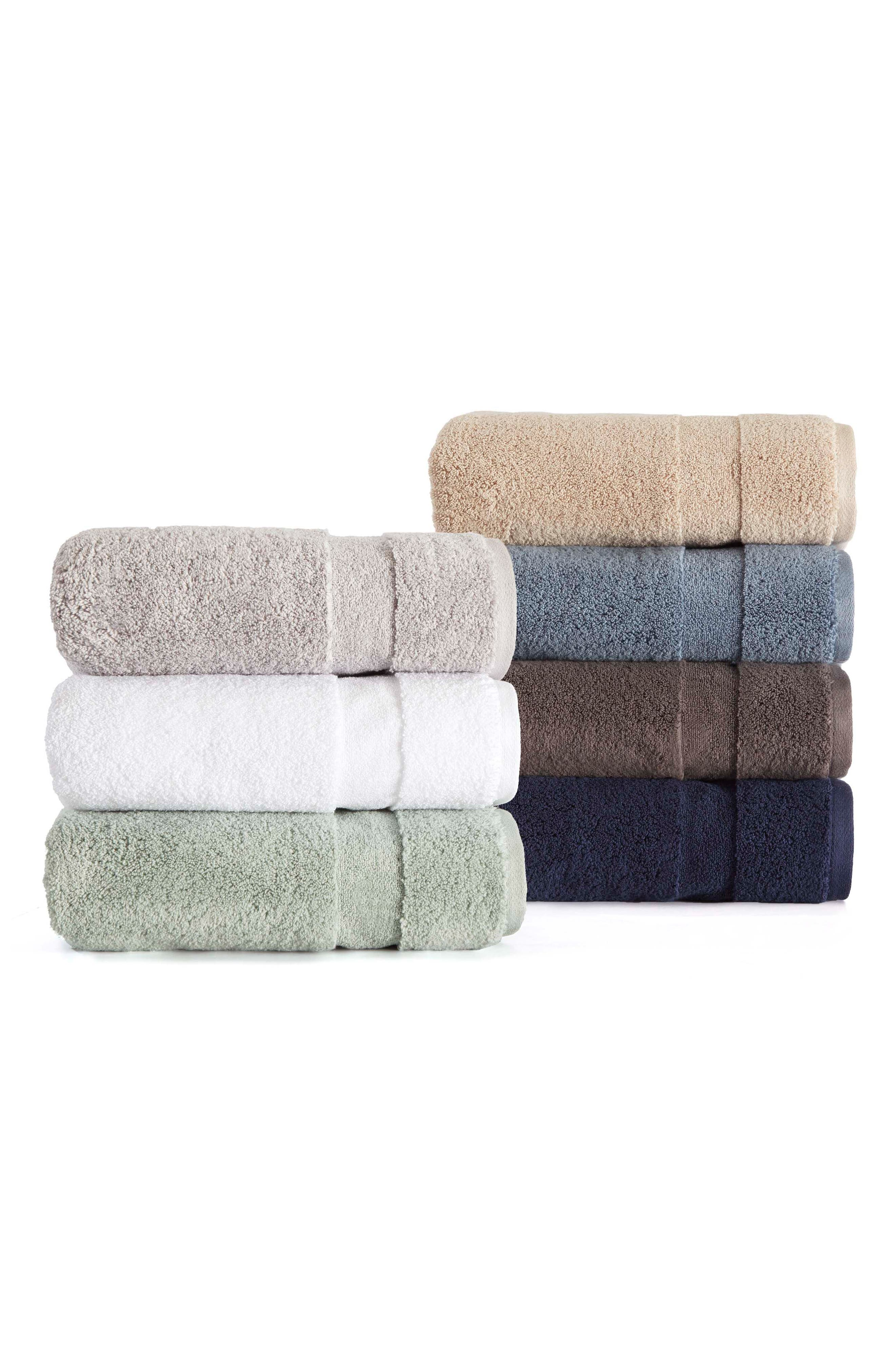 Kindness Bath Towel, Hand Towel & Washcloth Set,                             Alternate thumbnail 2, color,                             CHARCOAL