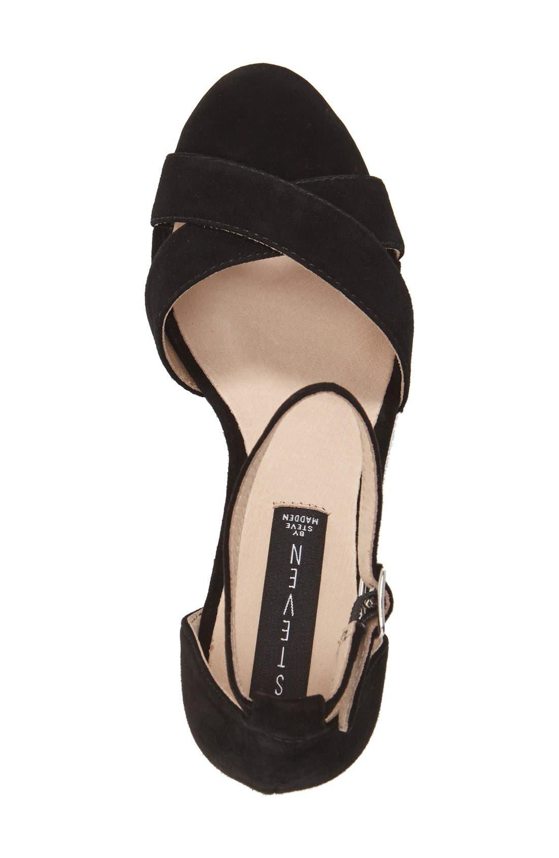 'Voomme' Ankle Strap Sandal,                             Alternate thumbnail 5, color,