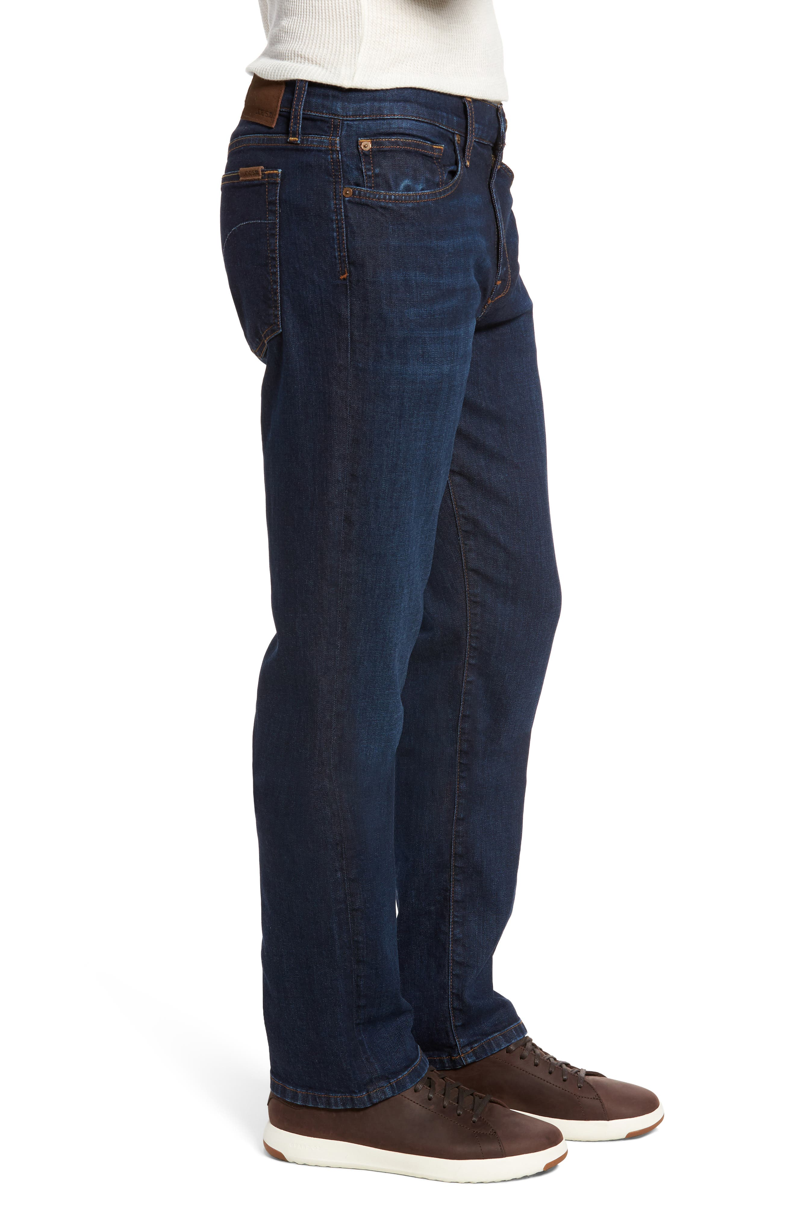 Classic Straight Fit Jeans,                             Alternate thumbnail 3, color,                             402