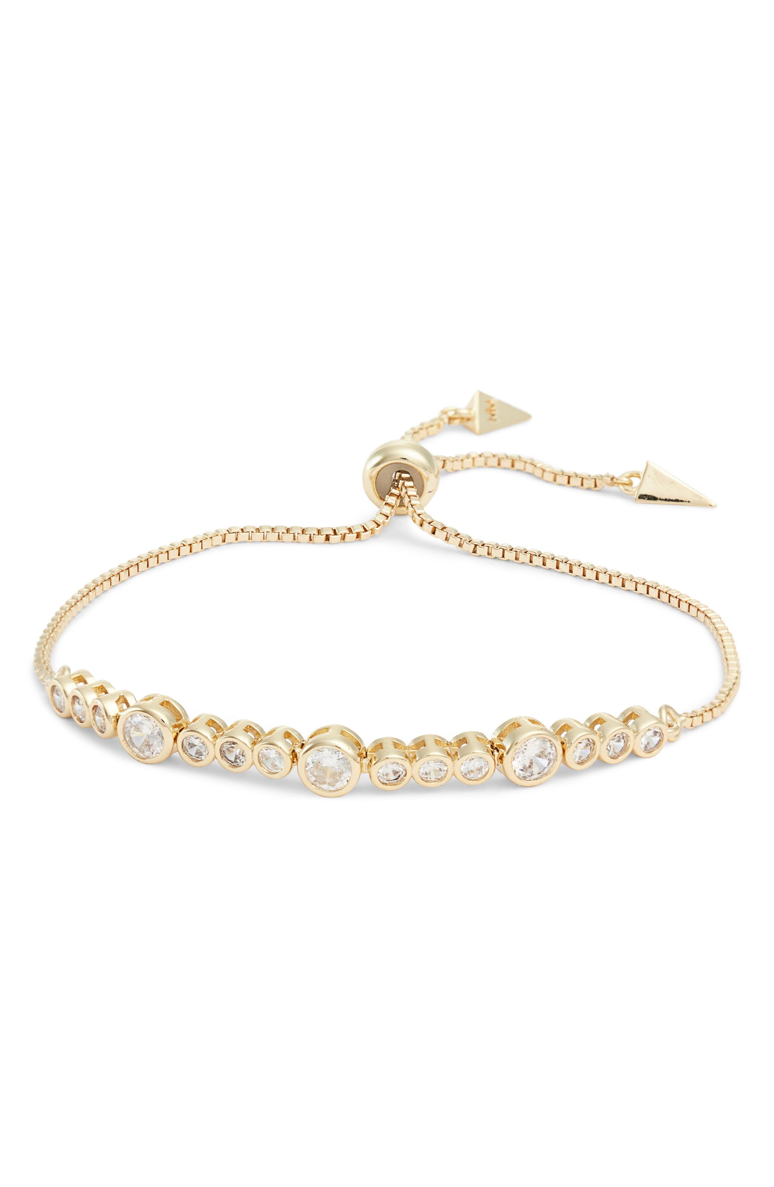 MELINDA MARIA Allison Bracelet in White Opal/ White Cz/ Gold