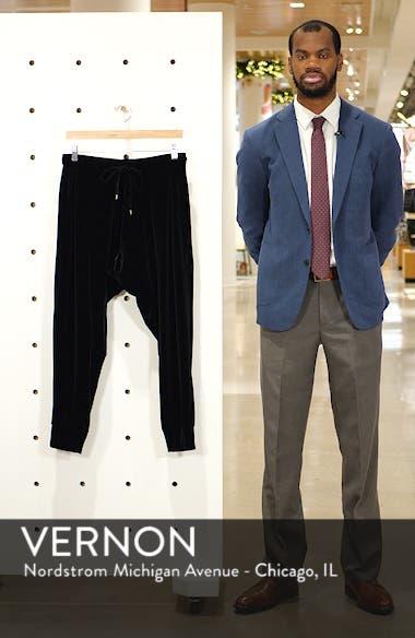 High Rise Crop Velvet Jogger Pants, sales video thumbnail