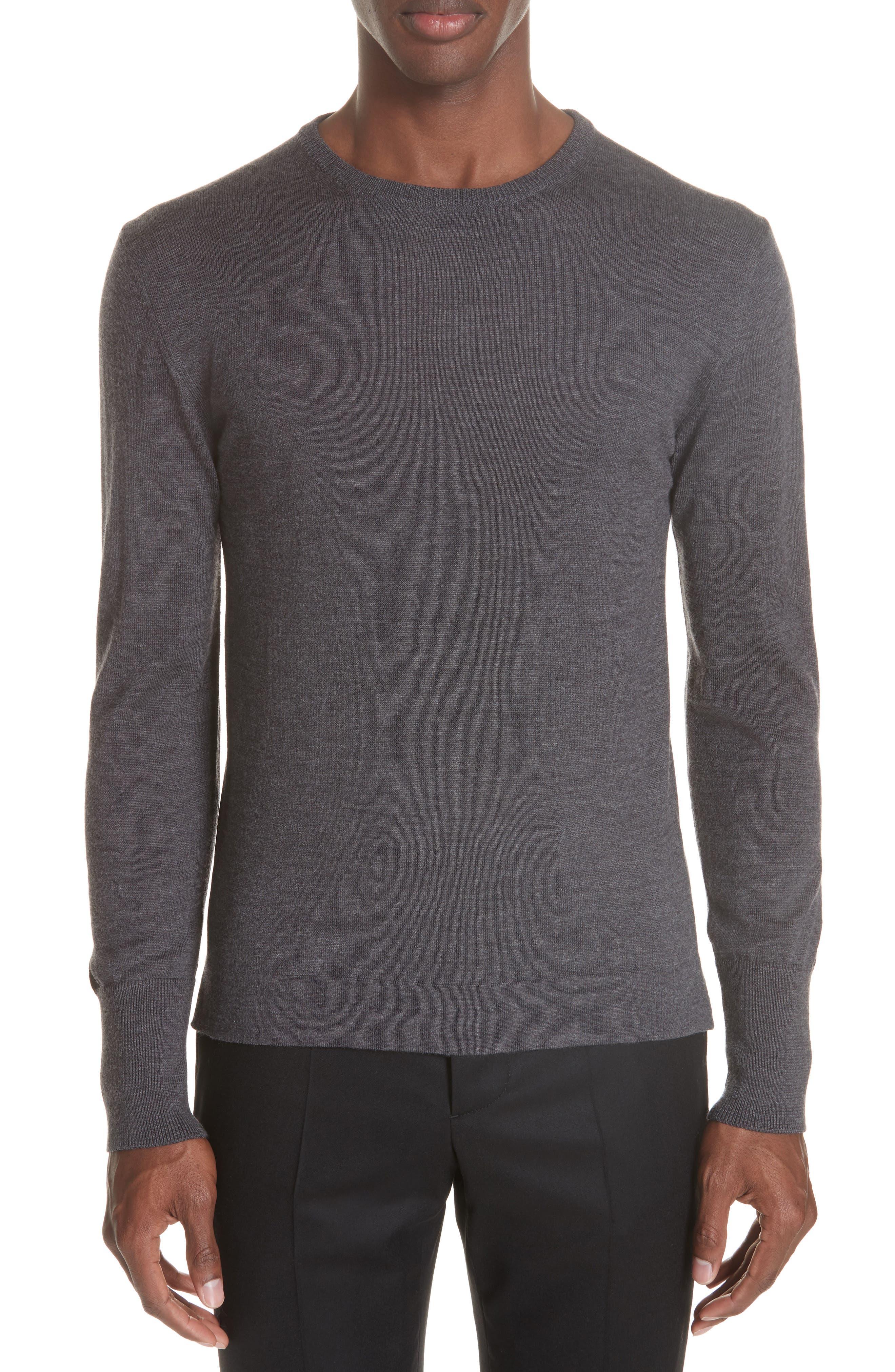 Officine Generale Nina Merino Wool Sweater, Grey