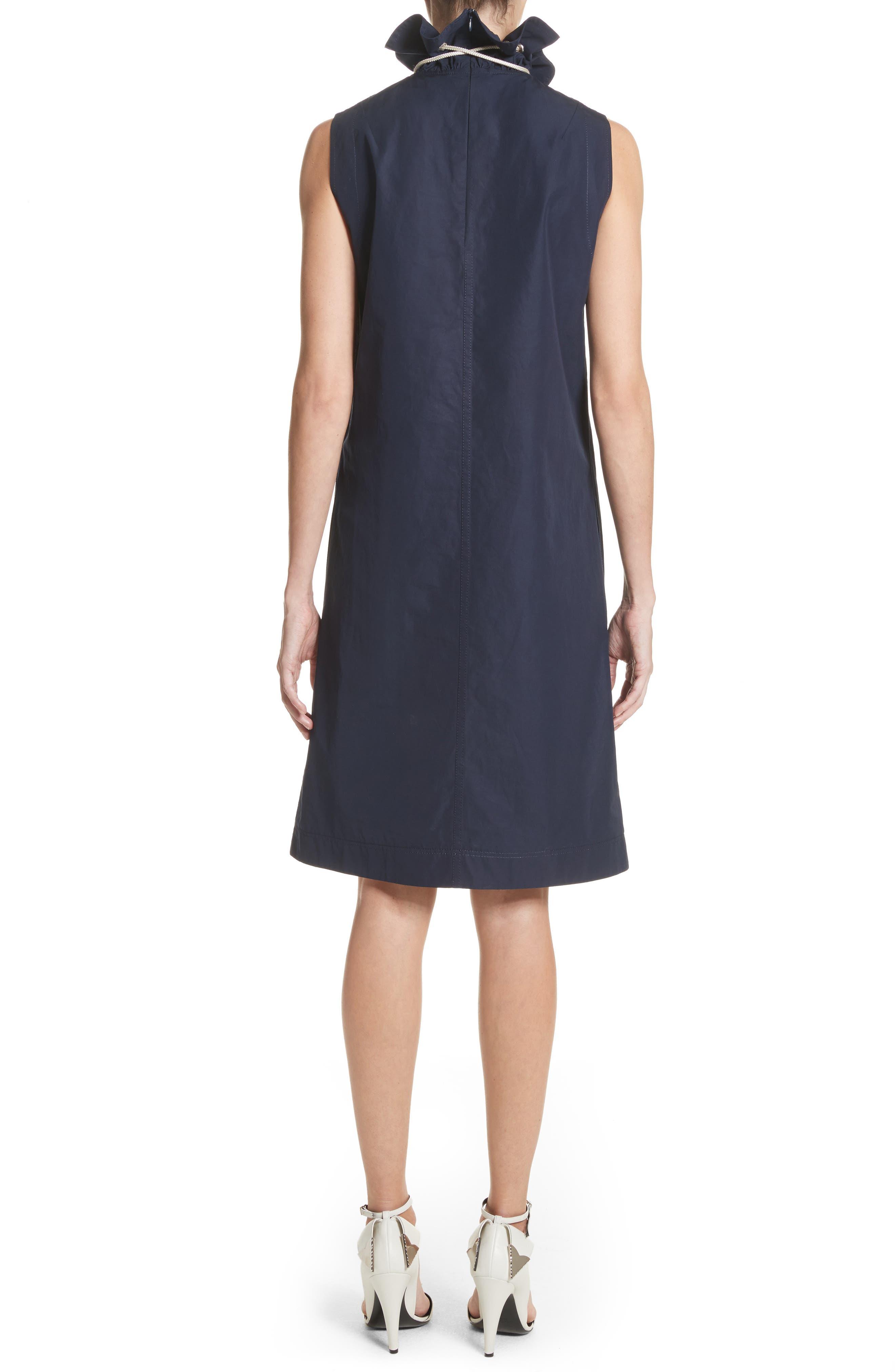 Ruffle Neck Poplin Dress,                             Alternate thumbnail 2, color,                             404