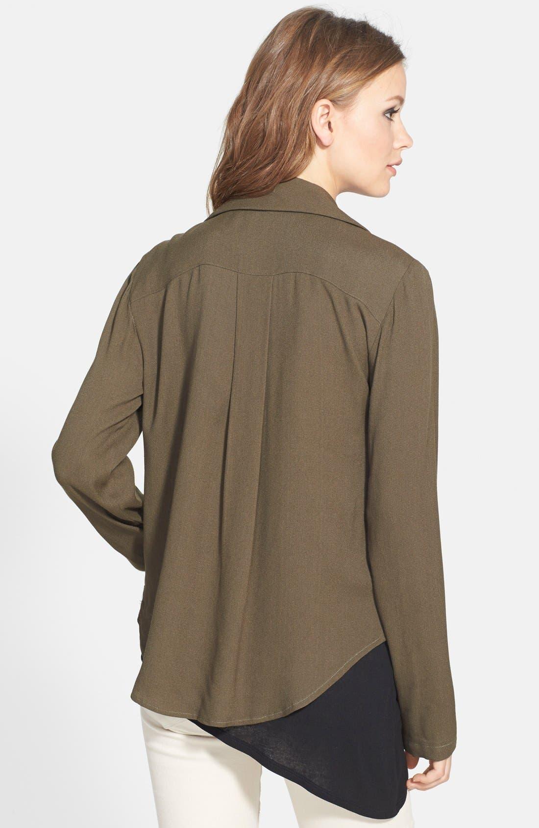 'Vero' Moto Shirt Jacket,                             Alternate thumbnail 3, color,                             300