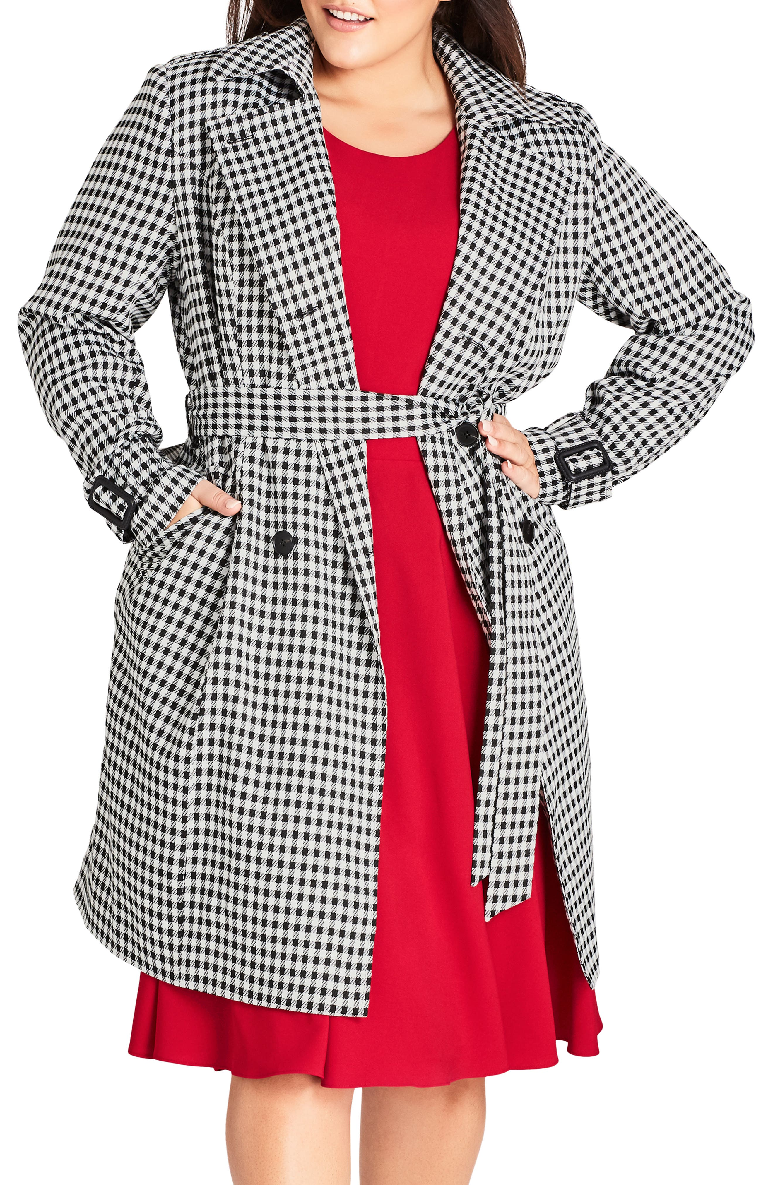 Sherlock Trench Coat,                             Main thumbnail 1, color,                             BLACK
