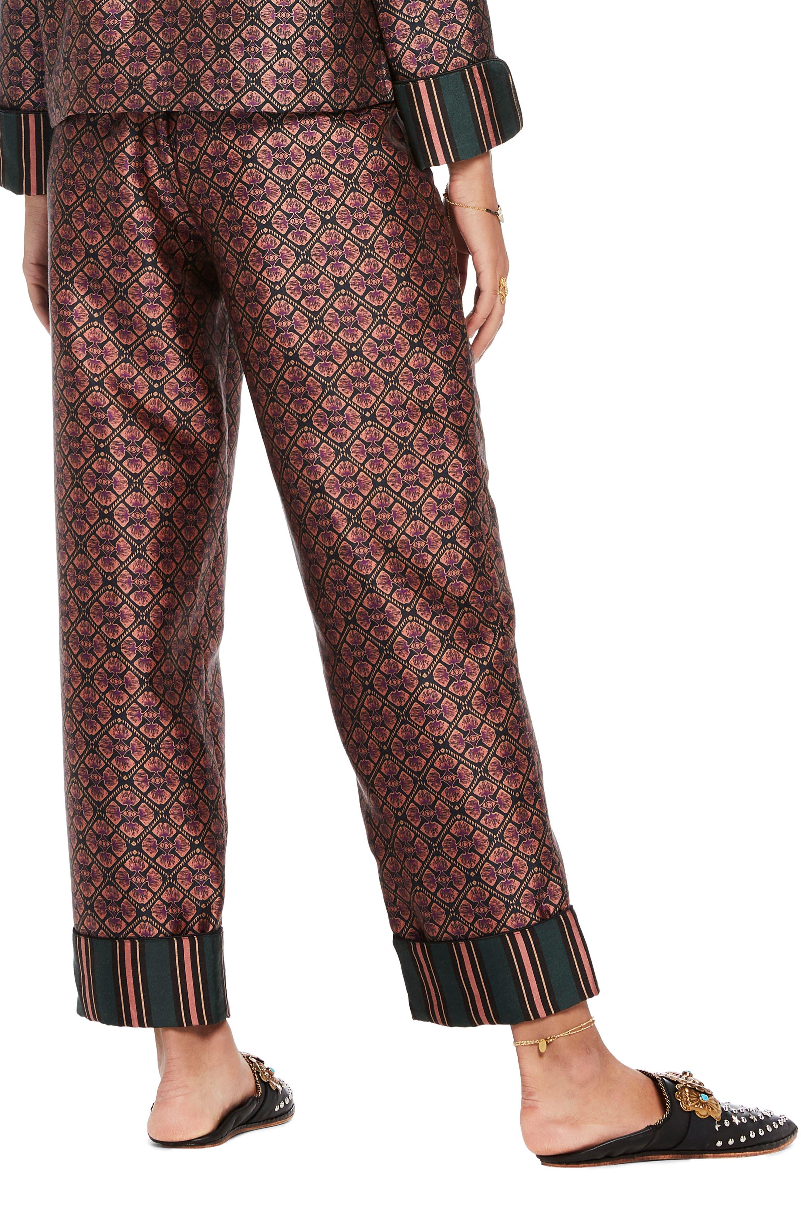 Print Pajama Pants,                             Alternate thumbnail 2, color,                             650