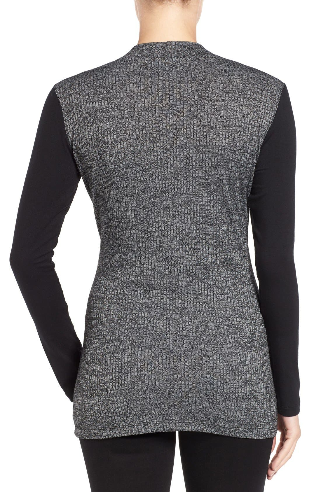 'Brie' Colorblock Maternity/Nursing Sweater,                             Alternate thumbnail 2, color,                             CHARCOAL/ BLACK