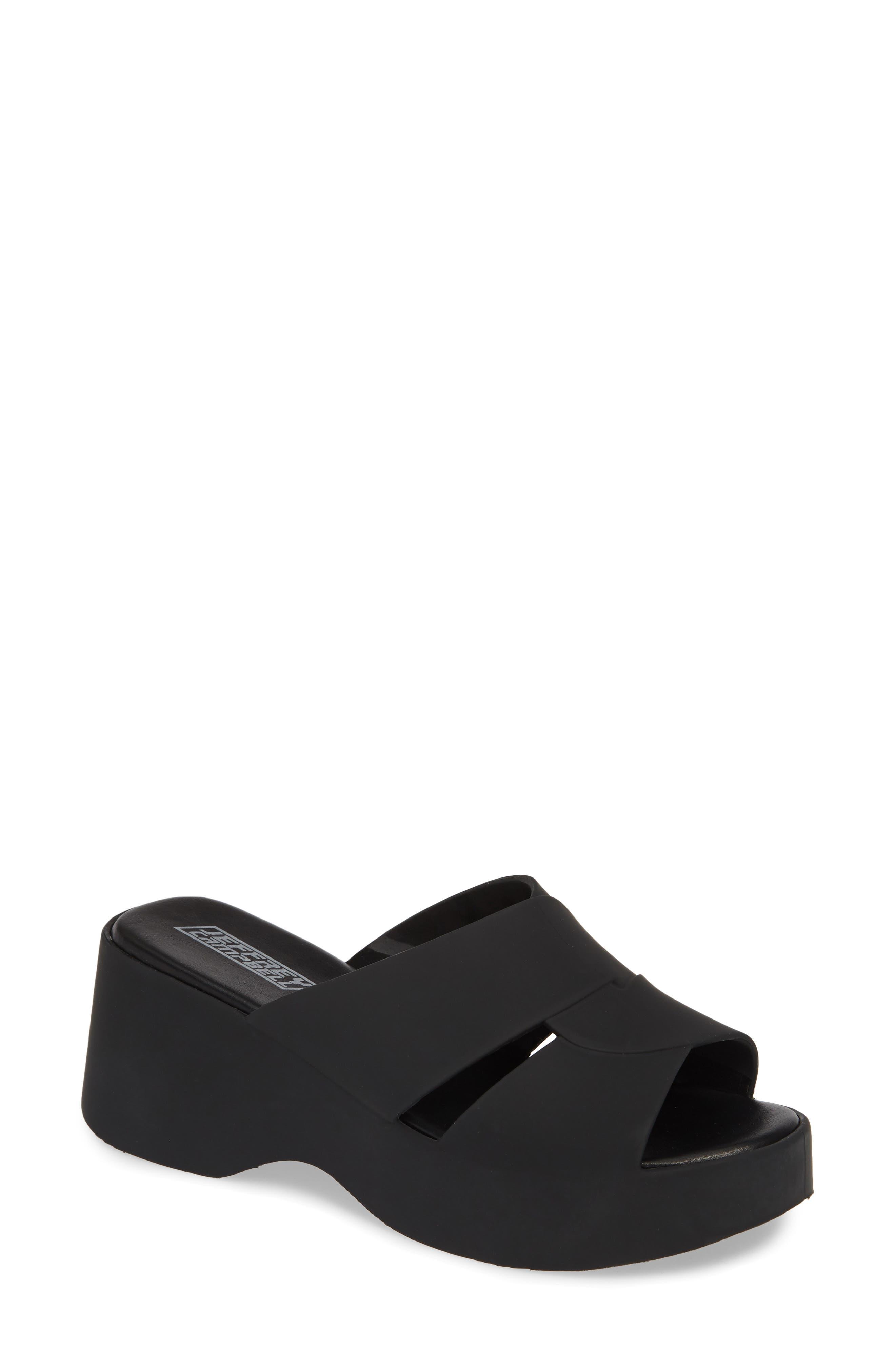 JEFFREY CAMPBELL Jelli Slide Sandal, Main, color, BLACK MATTE