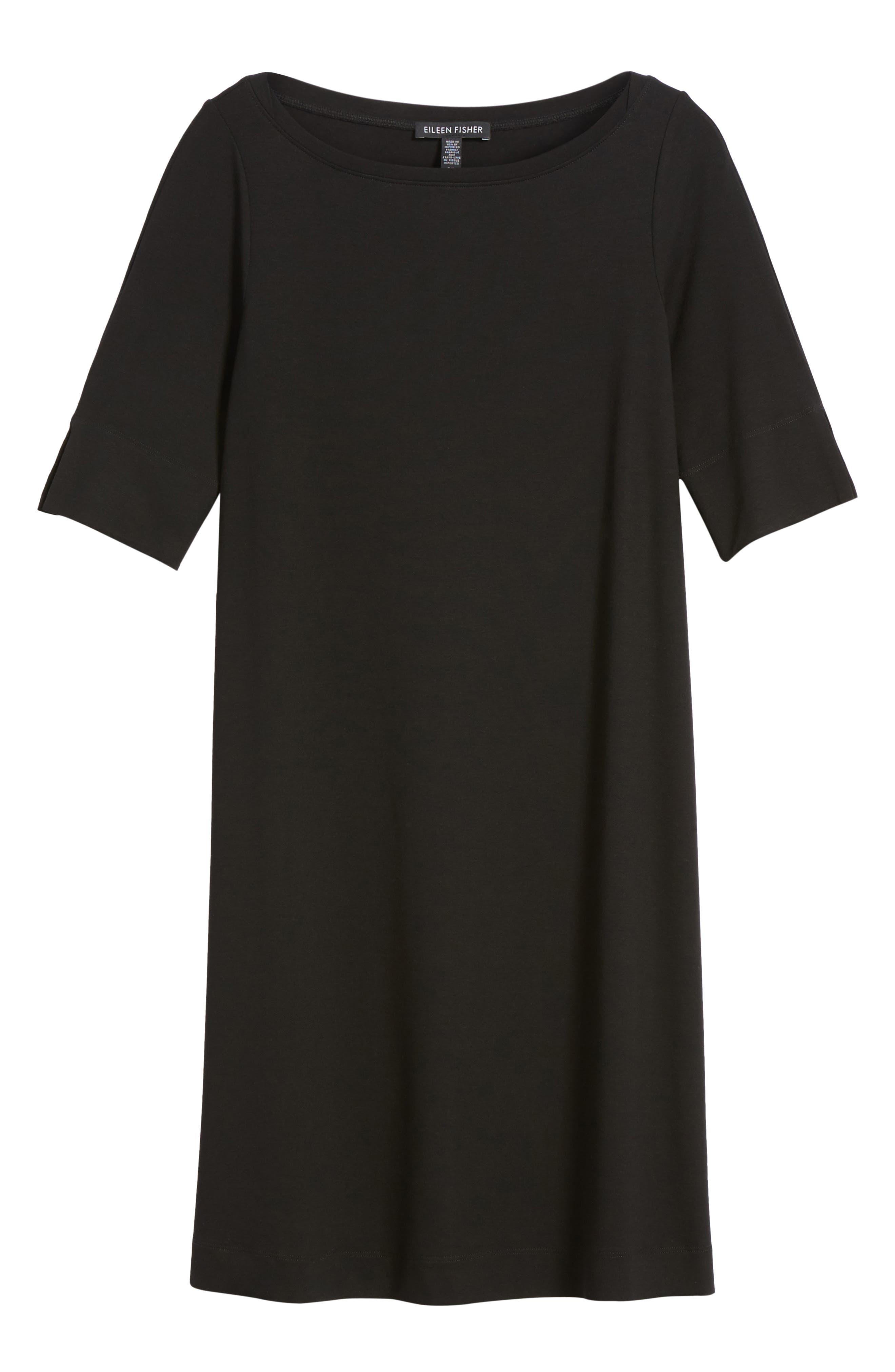 Jersey Shift Dress,                             Alternate thumbnail 6, color,                             001