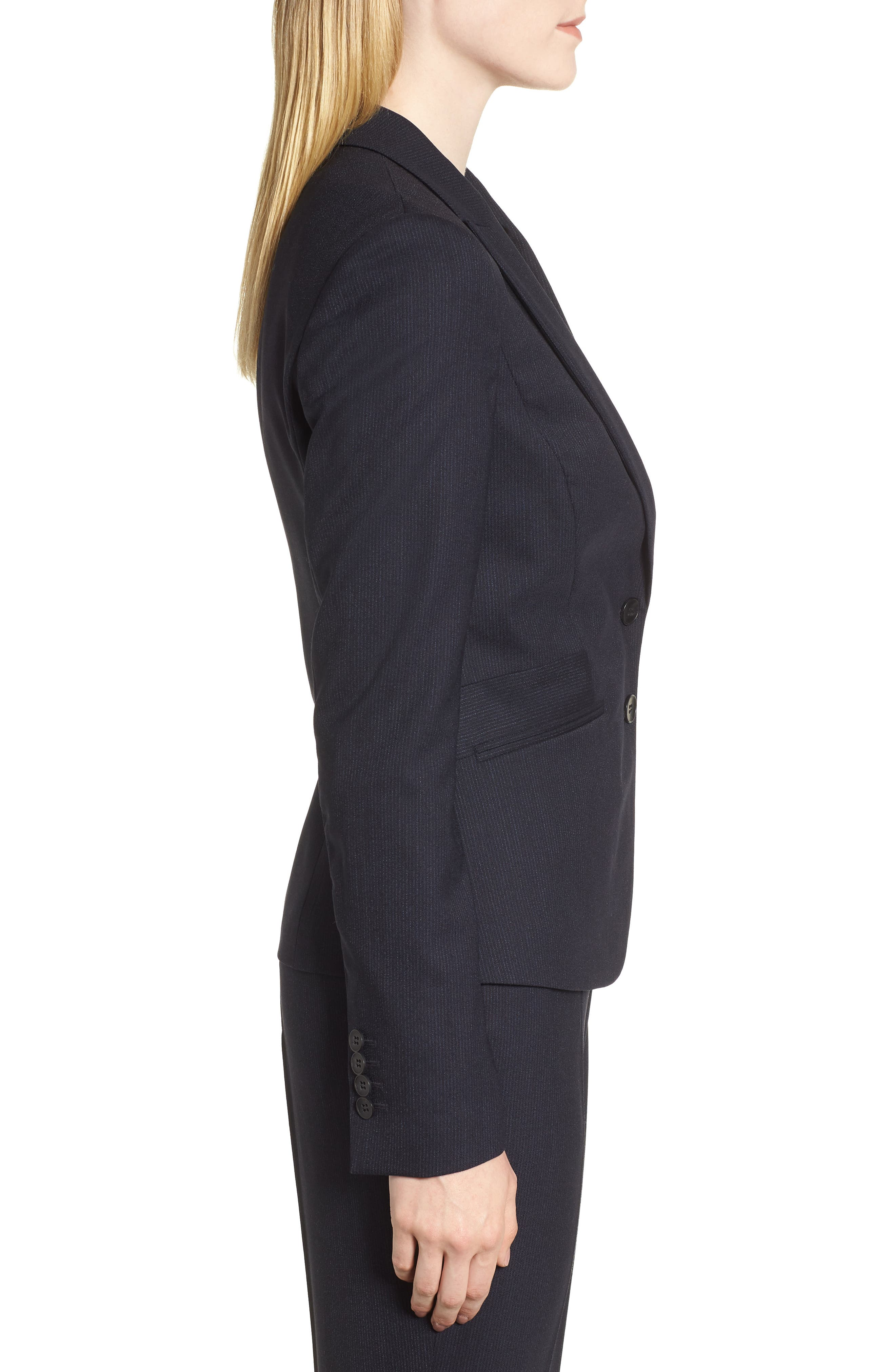 Jamahina Monostripe Stretch Wool Suit Jacket,                             Alternate thumbnail 3, color,                             468