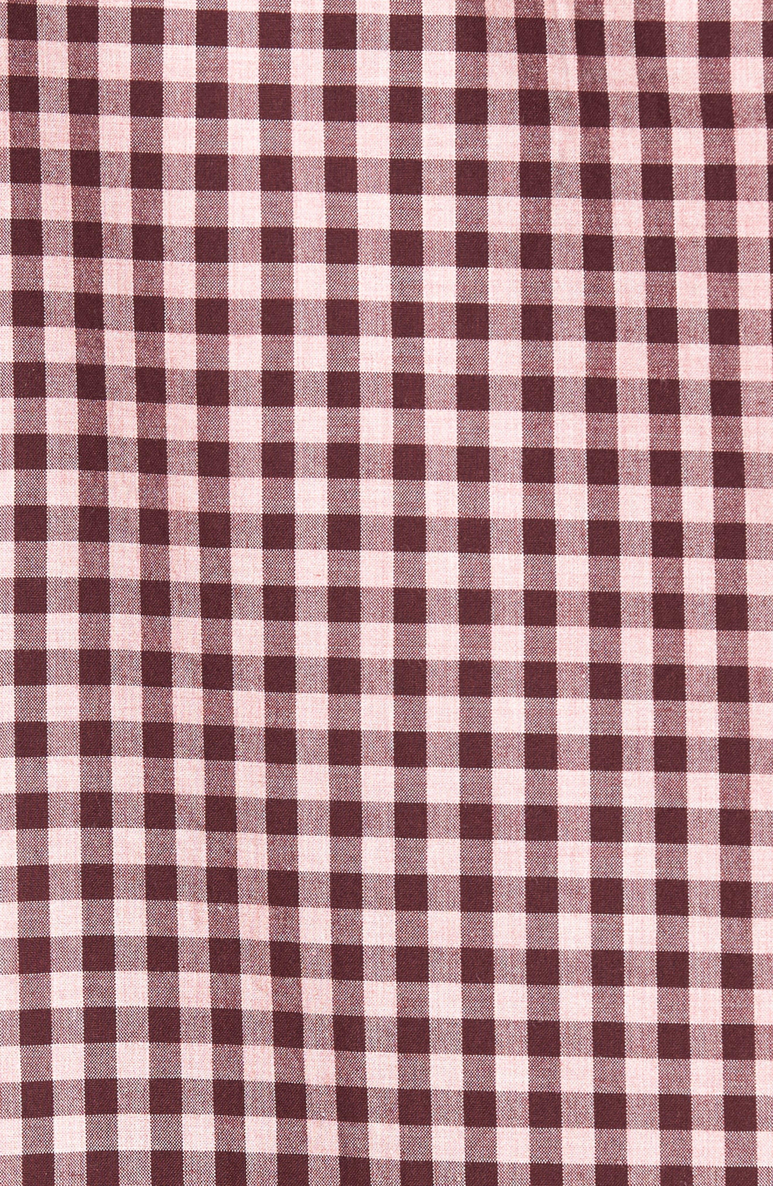 Slim Fit Washed Ombré Check Sport Shirt,                             Alternate thumbnail 5, color,                             650