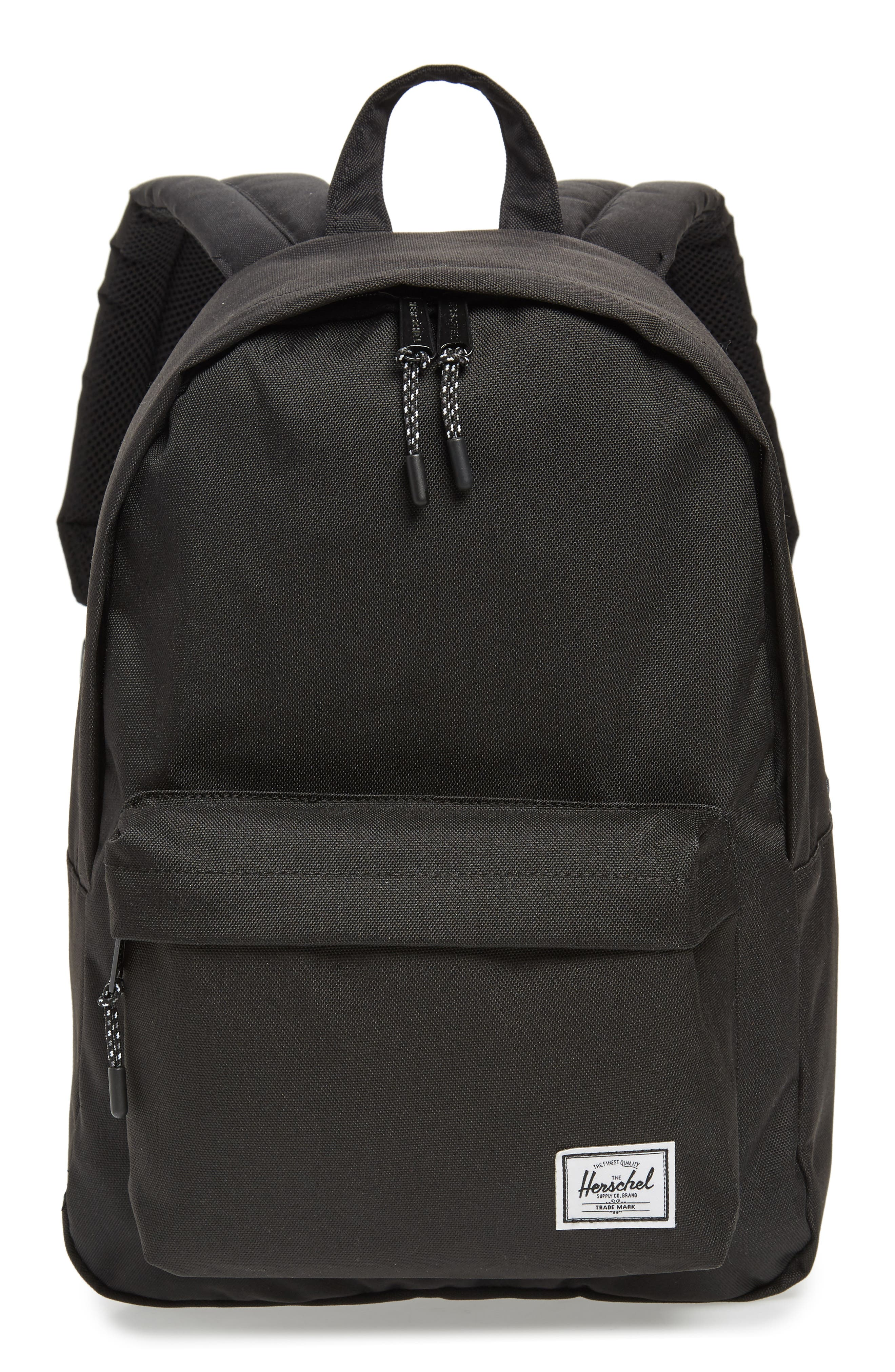 Classic Mid Volume Backpack,                         Main,                         color, BLACK