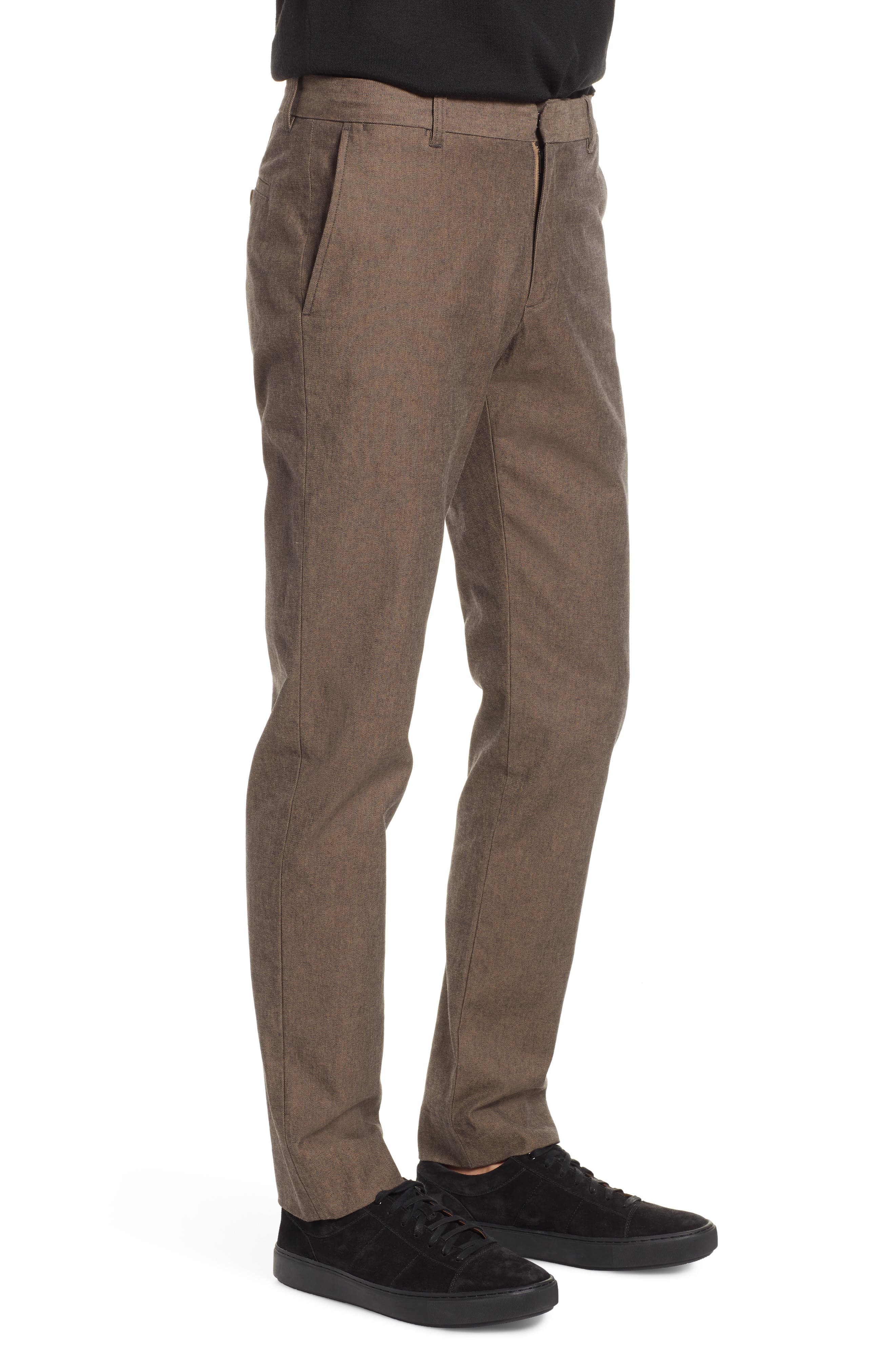 Griffith Slim Fit Chinos,                             Alternate thumbnail 3, color,                             OAK