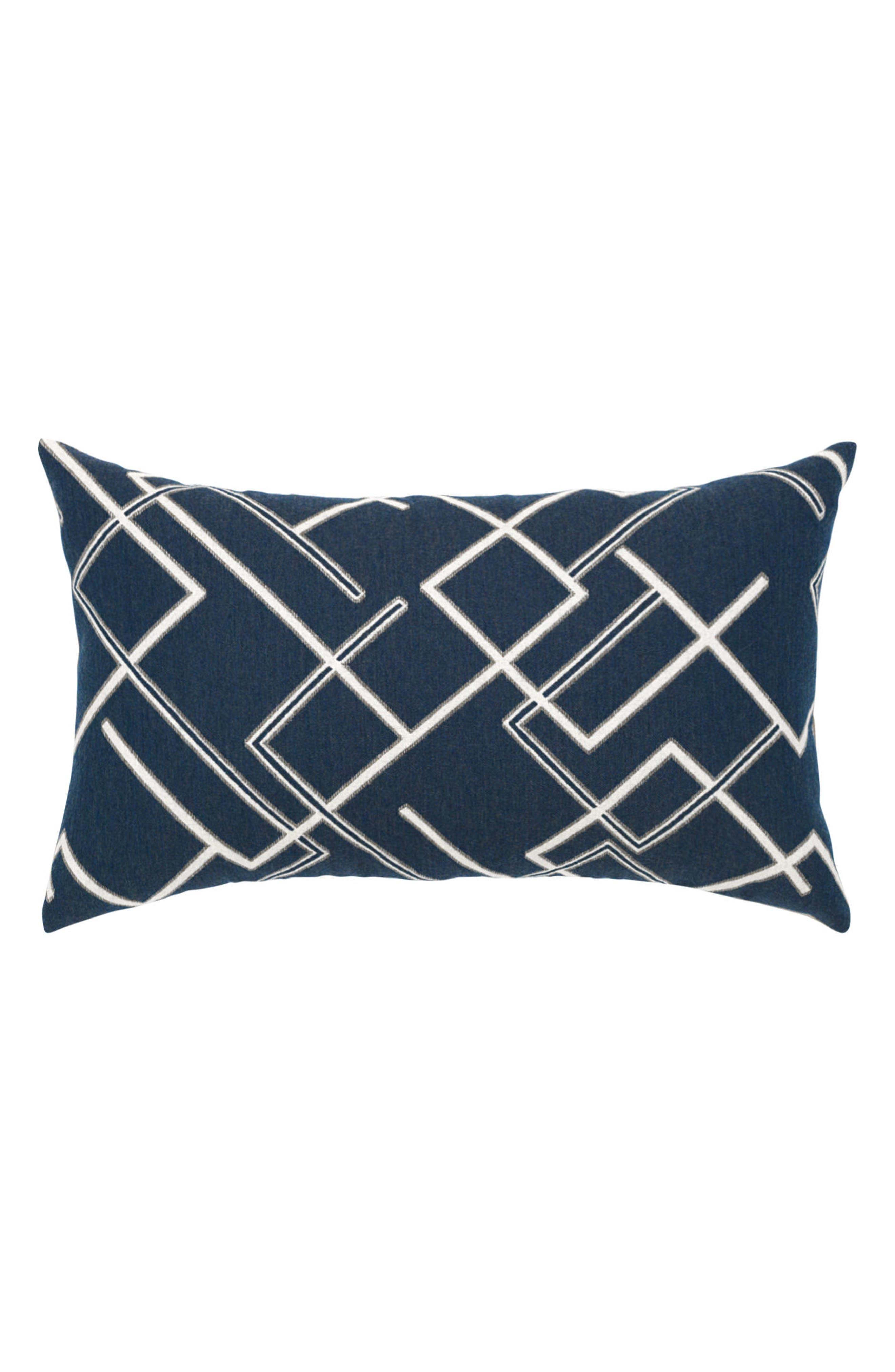 Divergence Indigo Lumbar Pillow,                         Main,                         color, BLUE