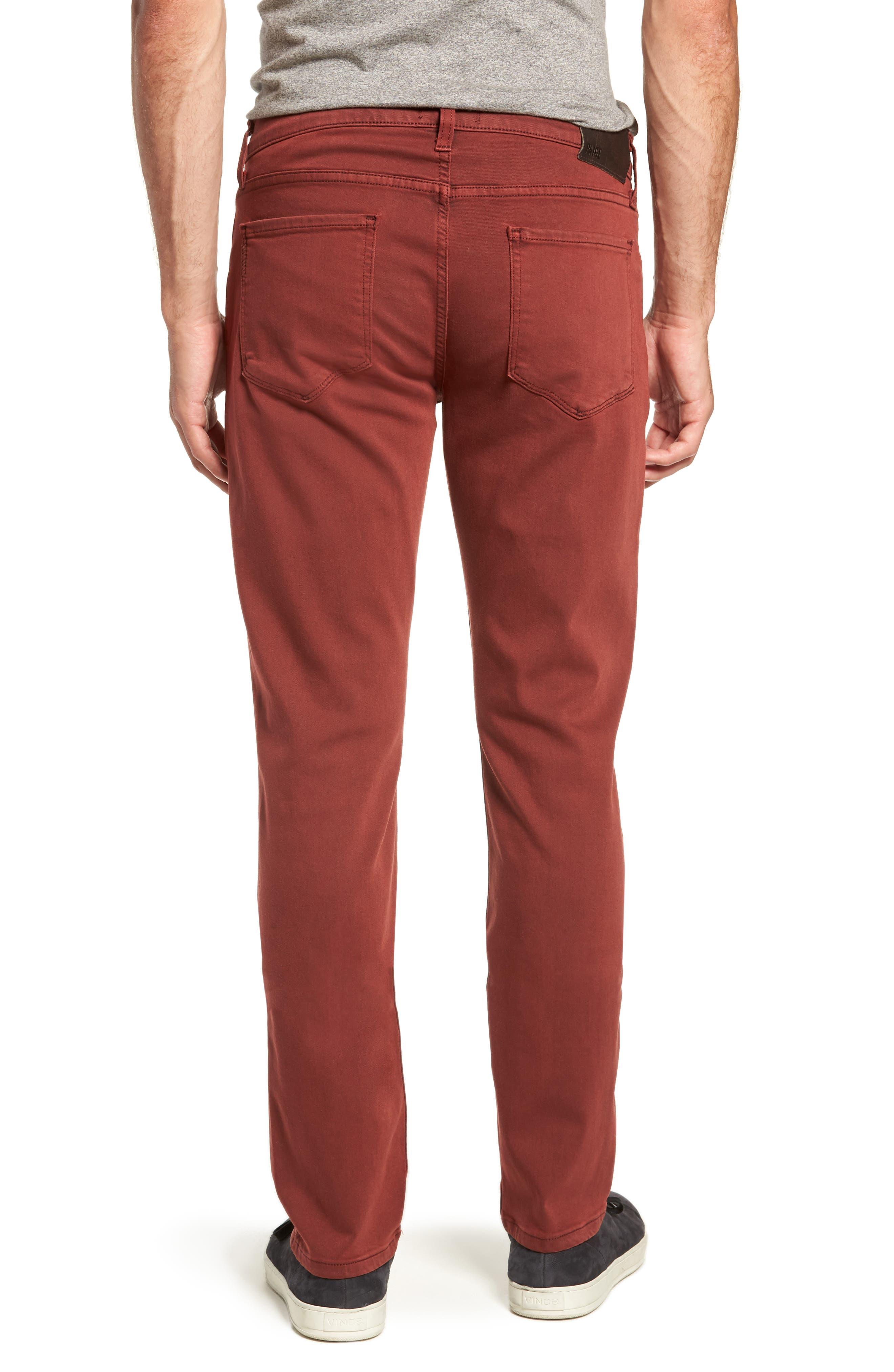 Transcend - Federal Slim Straight Leg Jeans,                             Alternate thumbnail 2, color,                             VINTAGE PERSIMMON