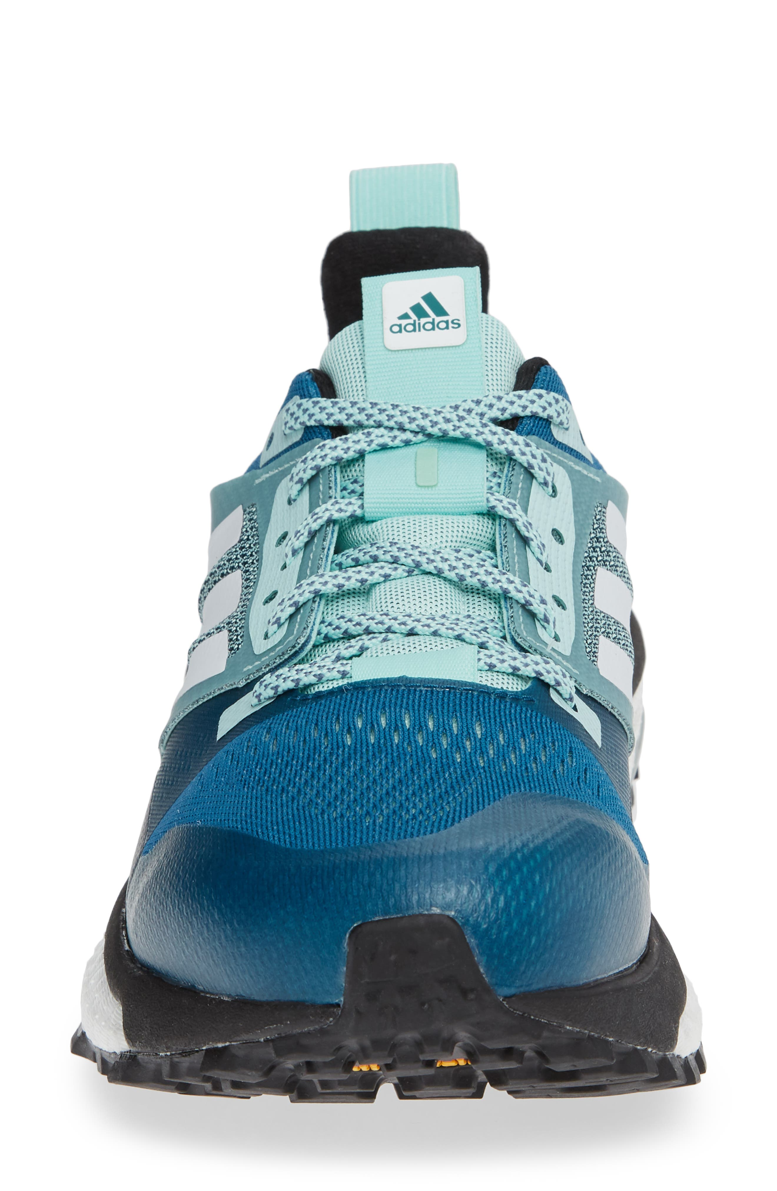 Supernova Trail Running Shoe,                             Alternate thumbnail 4, color,                             REAL TEAL/ WHITE/ CLEAR MINT