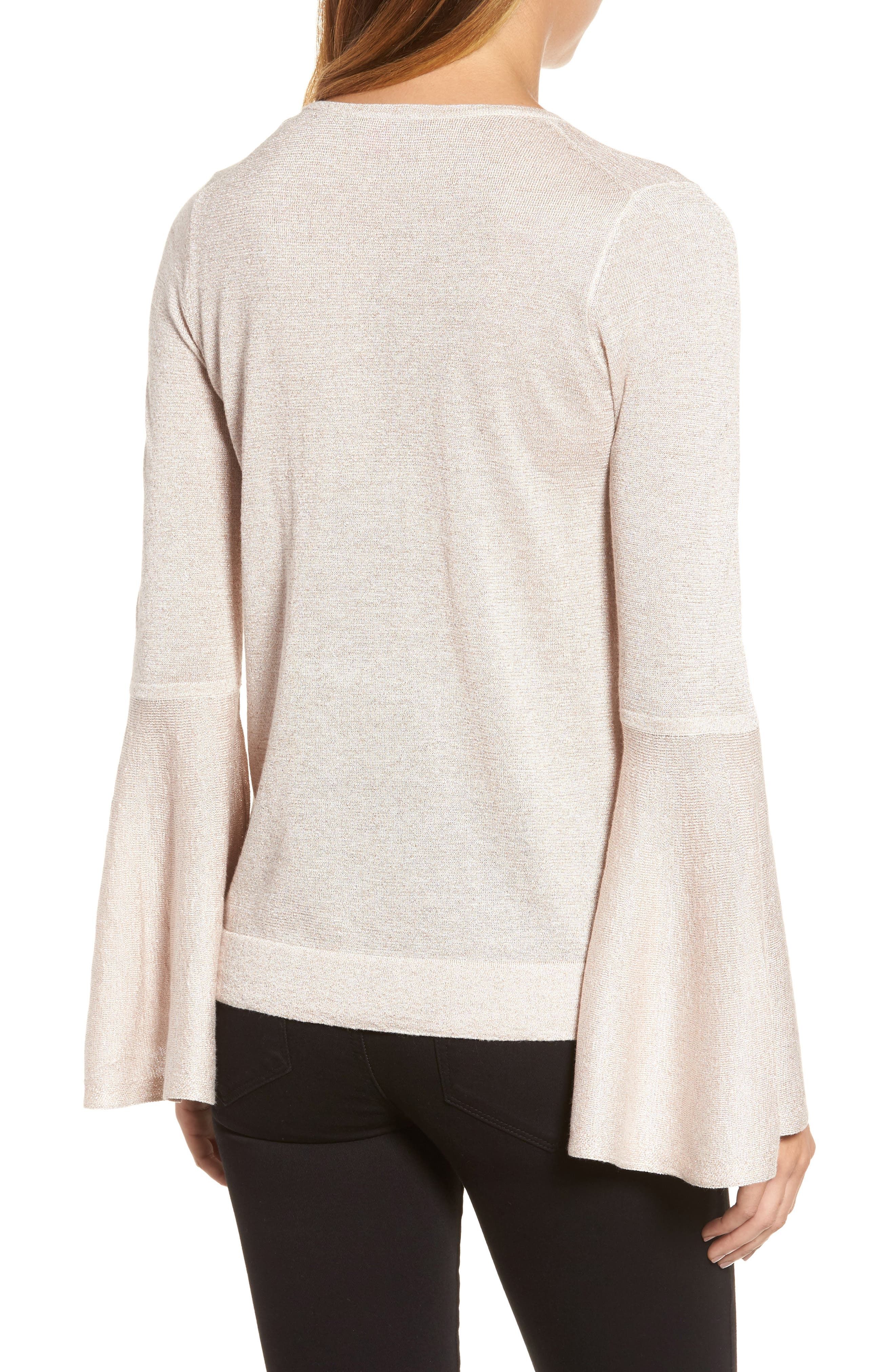 Bell Sleeve Sweater,                             Alternate thumbnail 9, color,