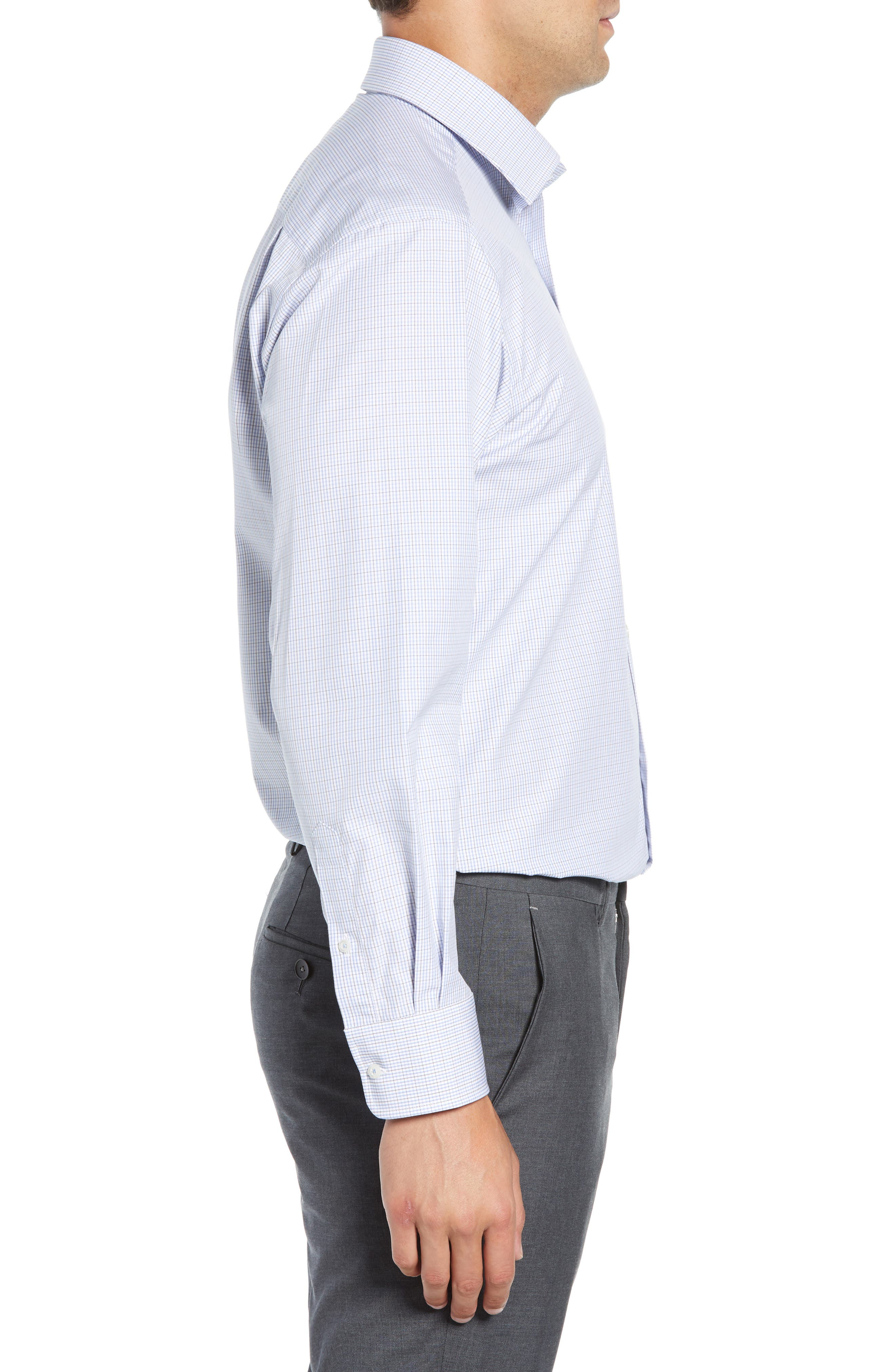 Regular Fit Check Dress Shirt,                             Alternate thumbnail 4, color,                             020