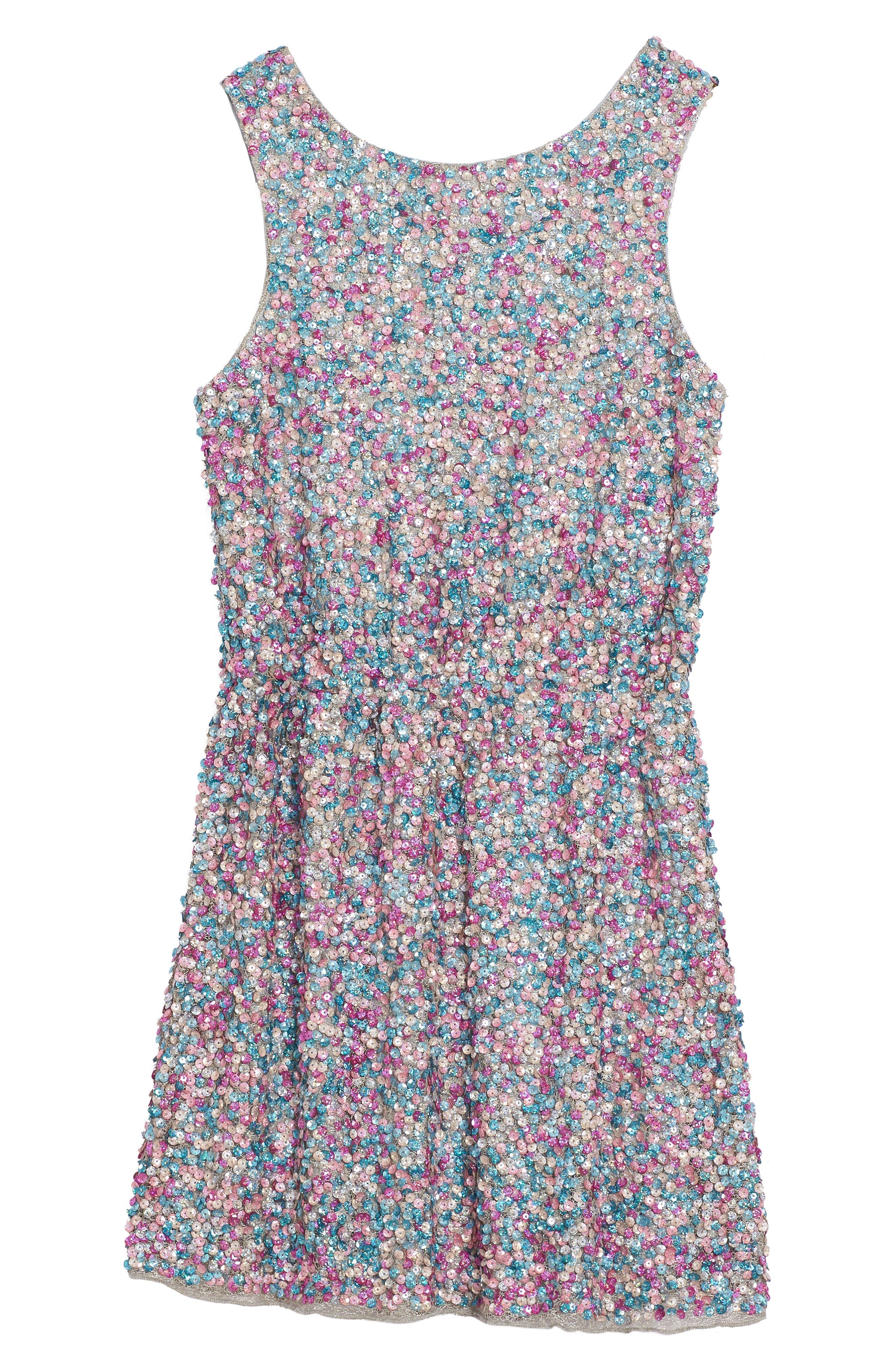Zoe Sequin Dress,                             Alternate thumbnail 2, color,                             400