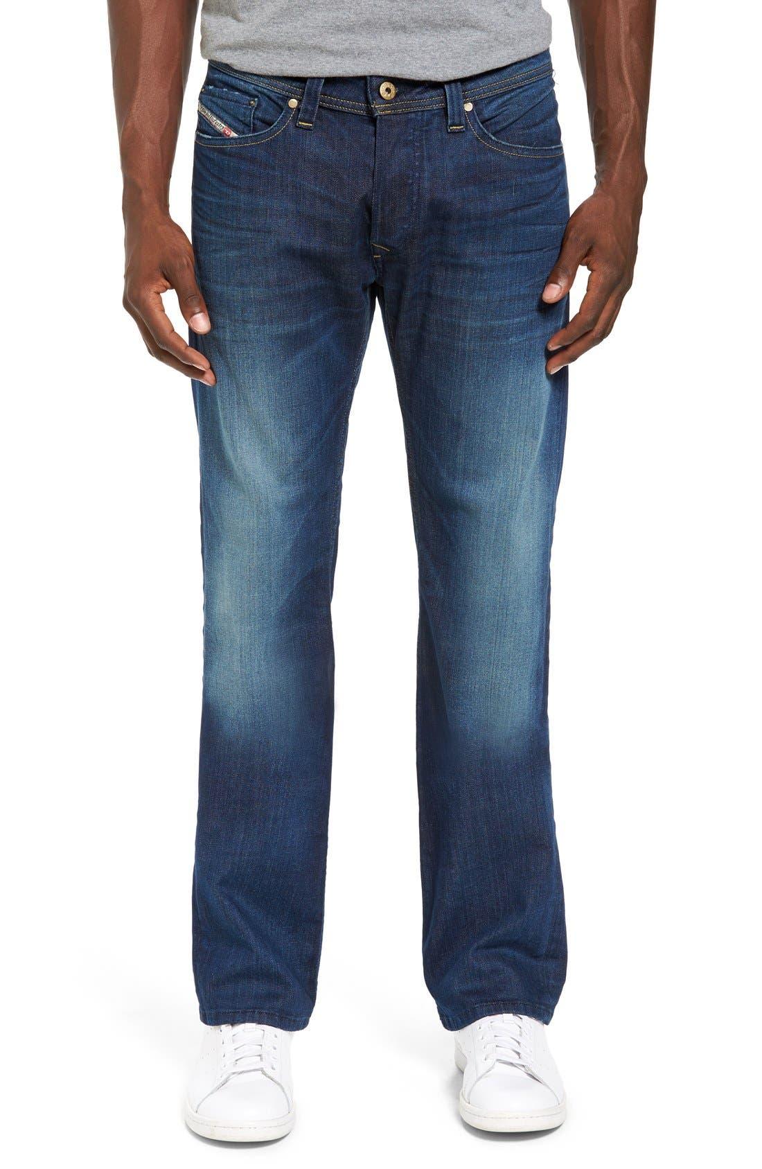 DIESEL Viker Straight Leg Jeans,                         Main,                         color, 400