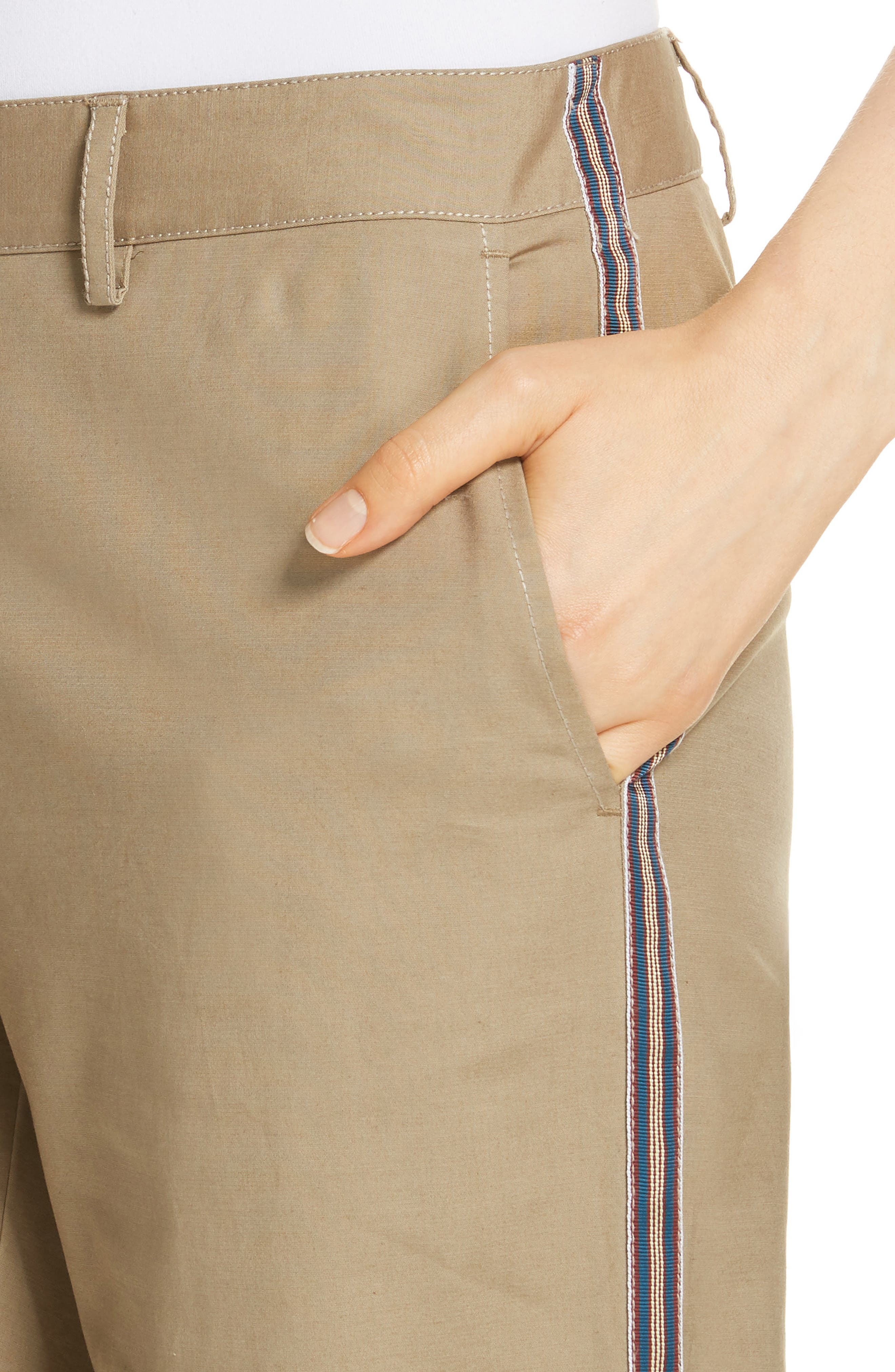Zip Ankle Jogger Pants,                             Alternate thumbnail 4, color,                             TAN LEAD