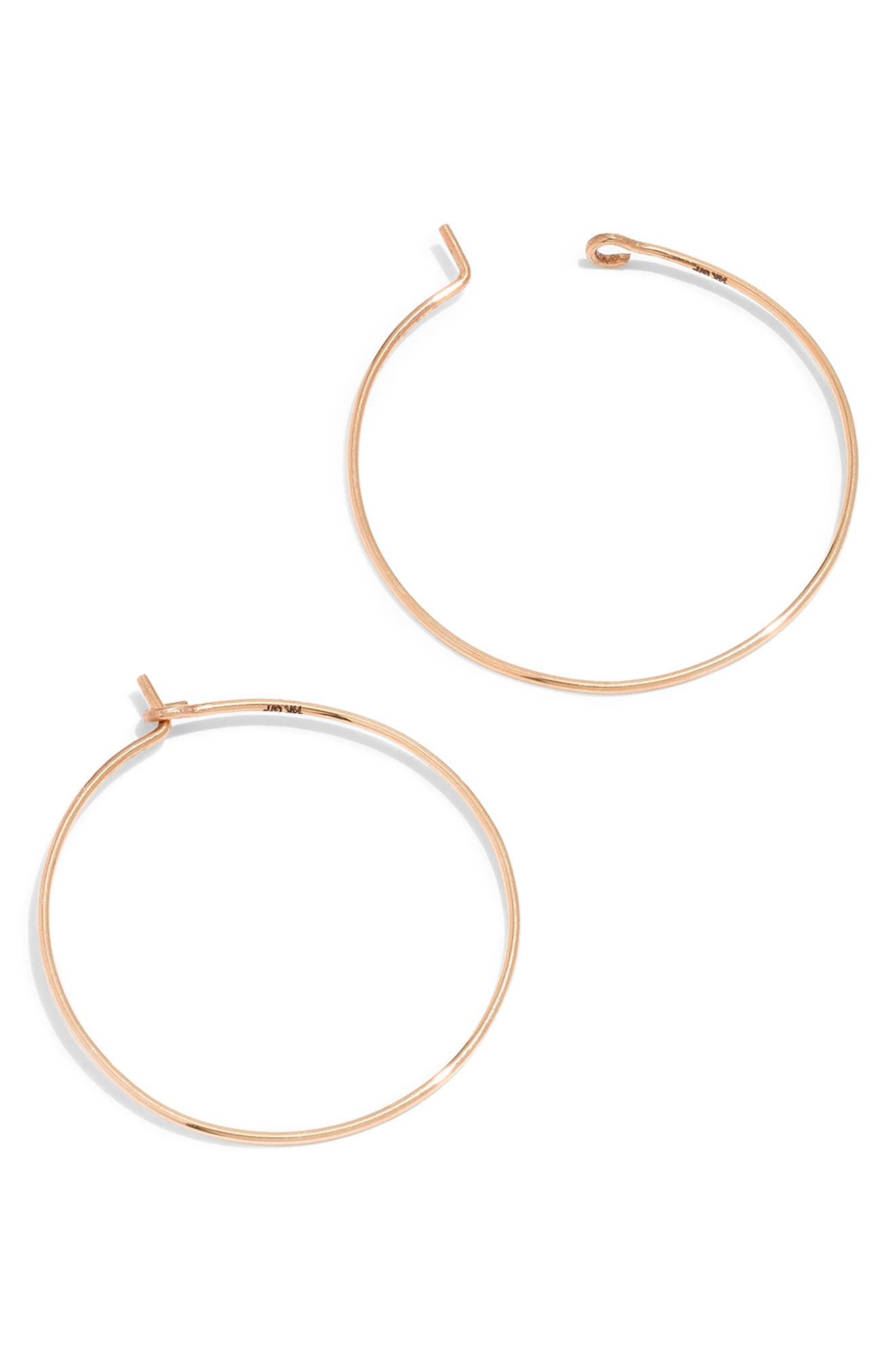 Gold-Filled Hoop Earrings,                             Main thumbnail 1, color,                             710