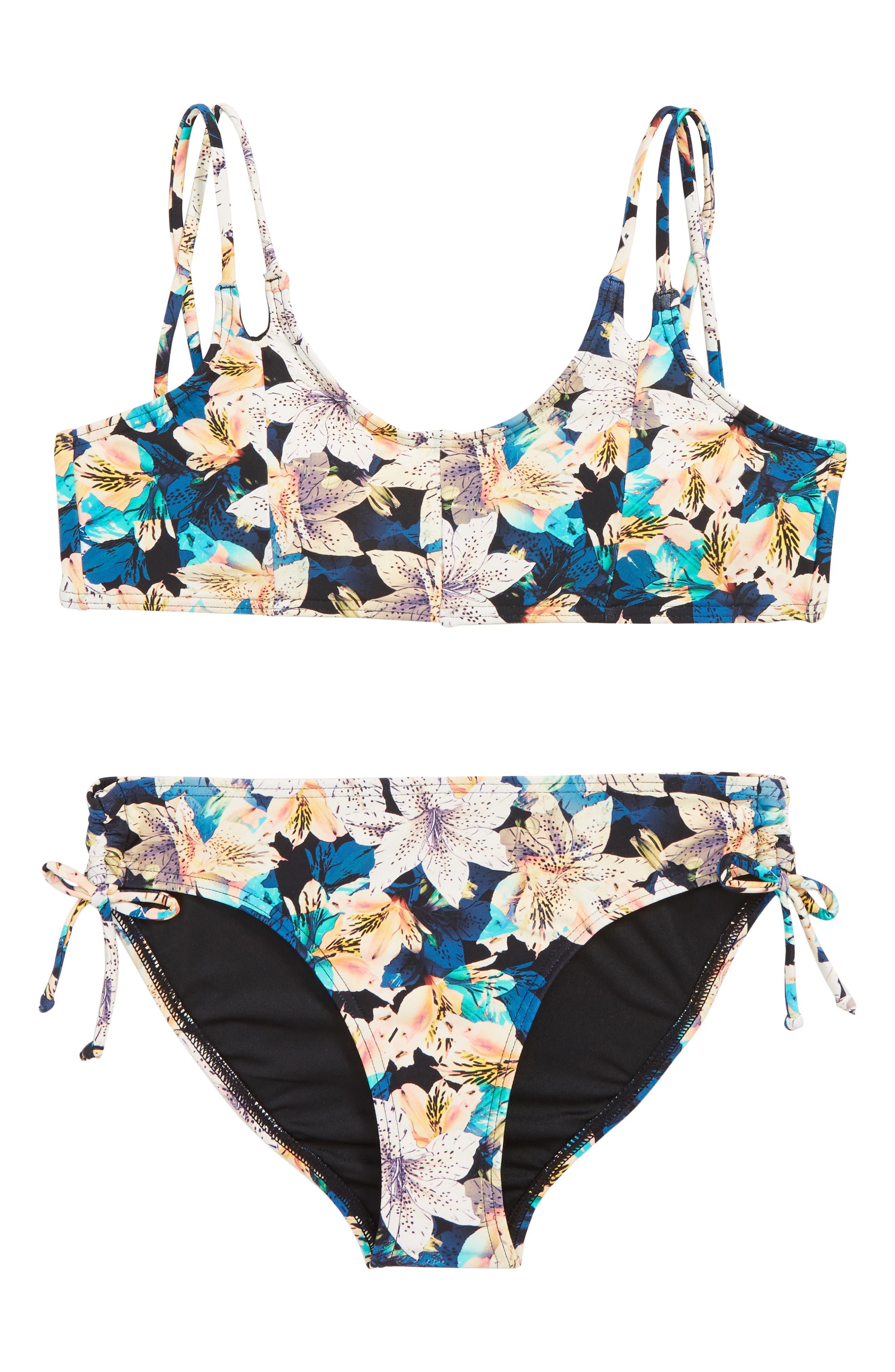 Tiller Two-Piece Swimsuit,                             Main thumbnail 1, color,                             MULTI