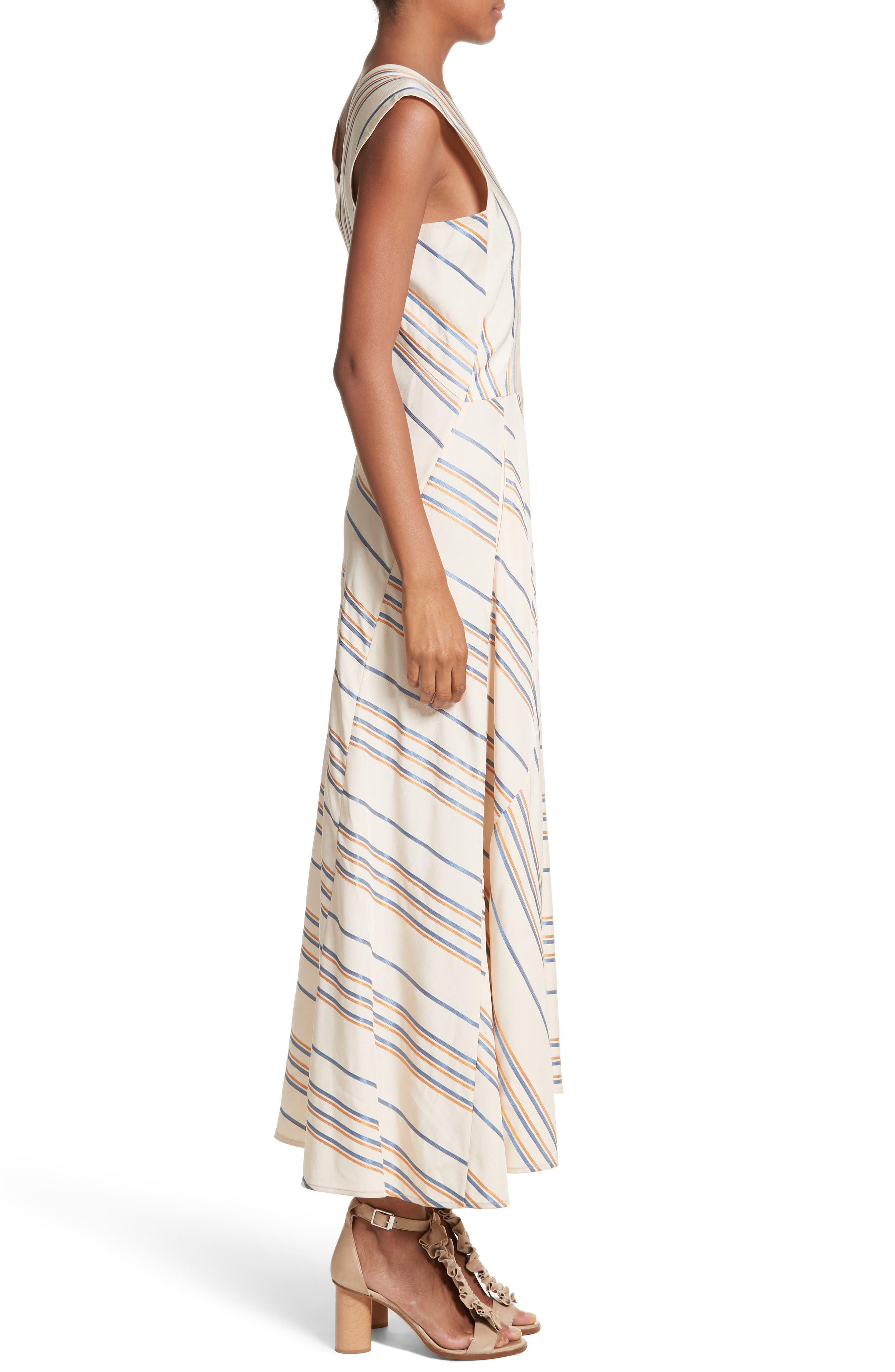 Stripe Midi Dress,                             Alternate thumbnail 3, color,                             901