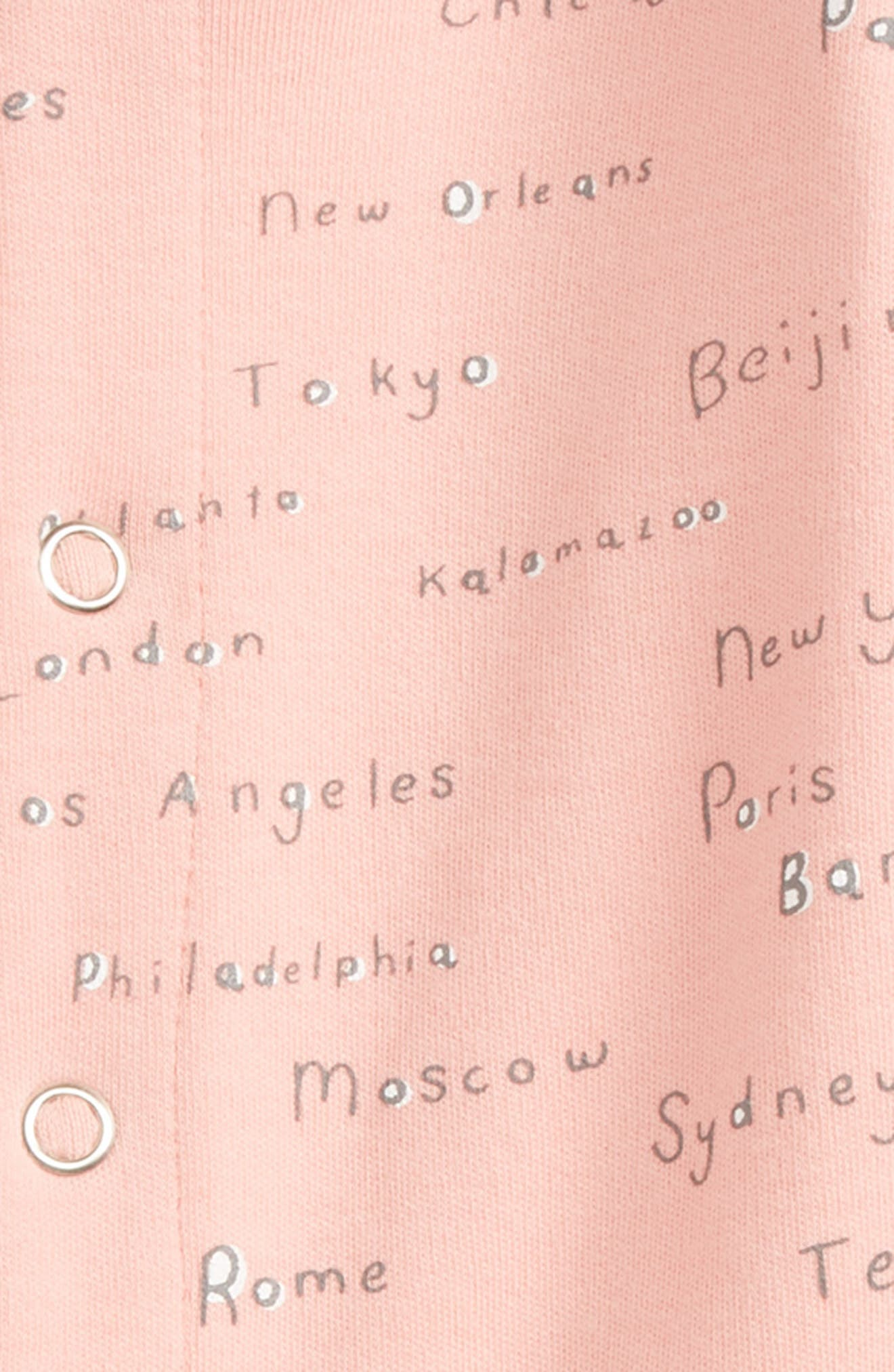 City Names Organic Cotton Footie,                             Alternate thumbnail 2, color,