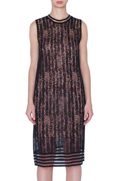 663e61b653e Akris Scribble Jacquard Linen Blend Dress