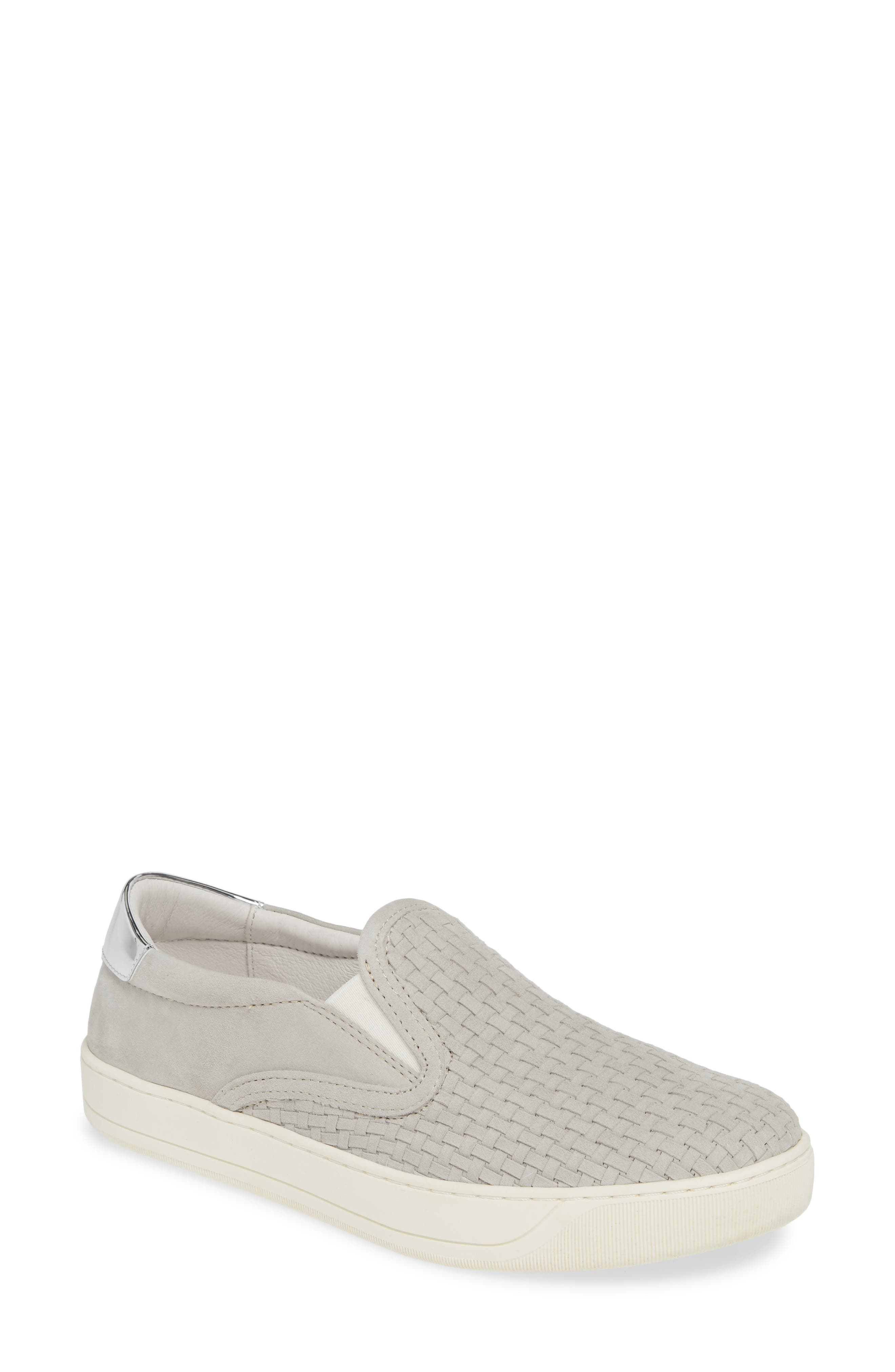 Elaine Woven Slip-On Sneaker,                             Main thumbnail 1, color,                             GREY SUEDE