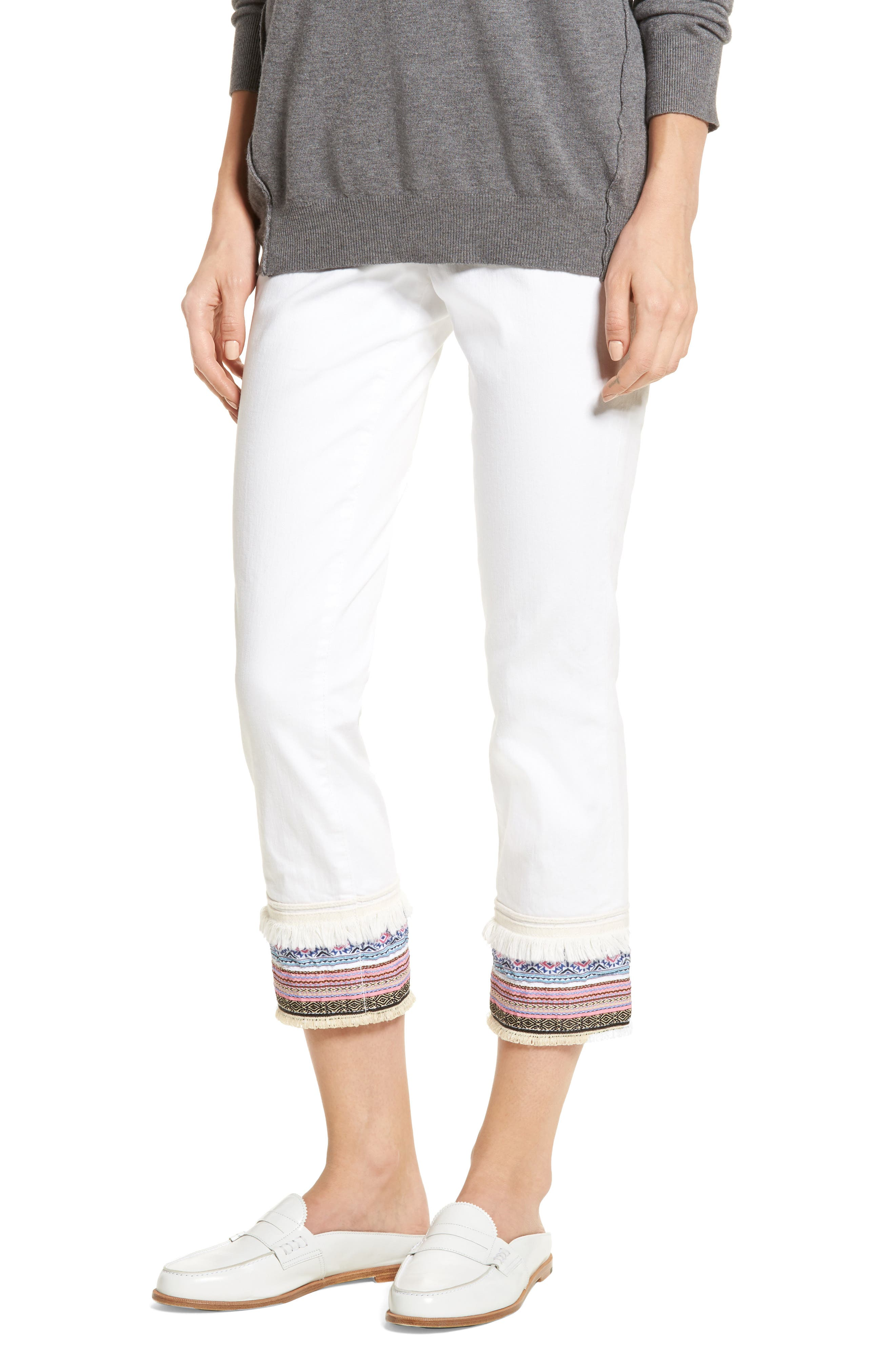 Embellished Denim Pants,                             Main thumbnail 1, color,                             168