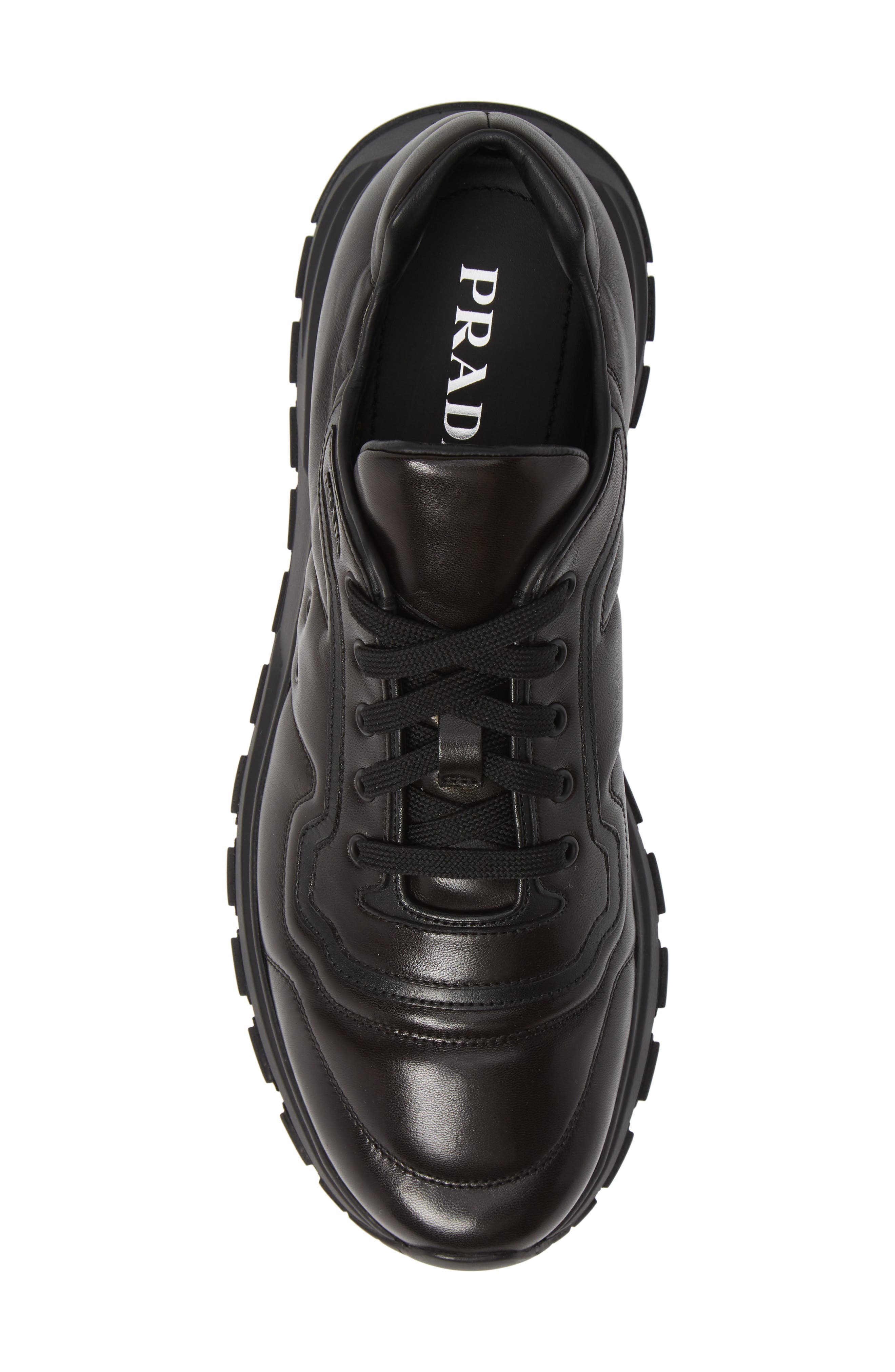 PRADA,                             Trainer Sneaker,                             Alternate thumbnail 5, color,                             NERO