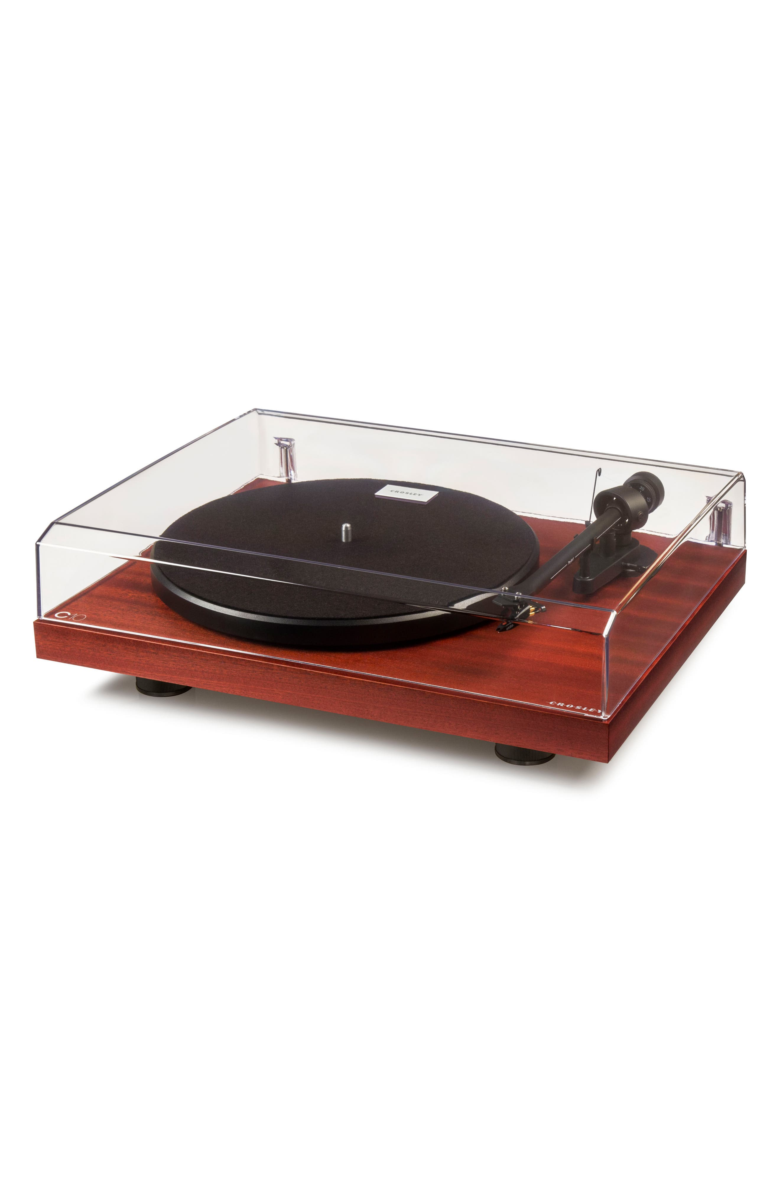 C10 Two-Speed Manual Turntable,                             Alternate thumbnail 4, color,                             MAHOGANY
