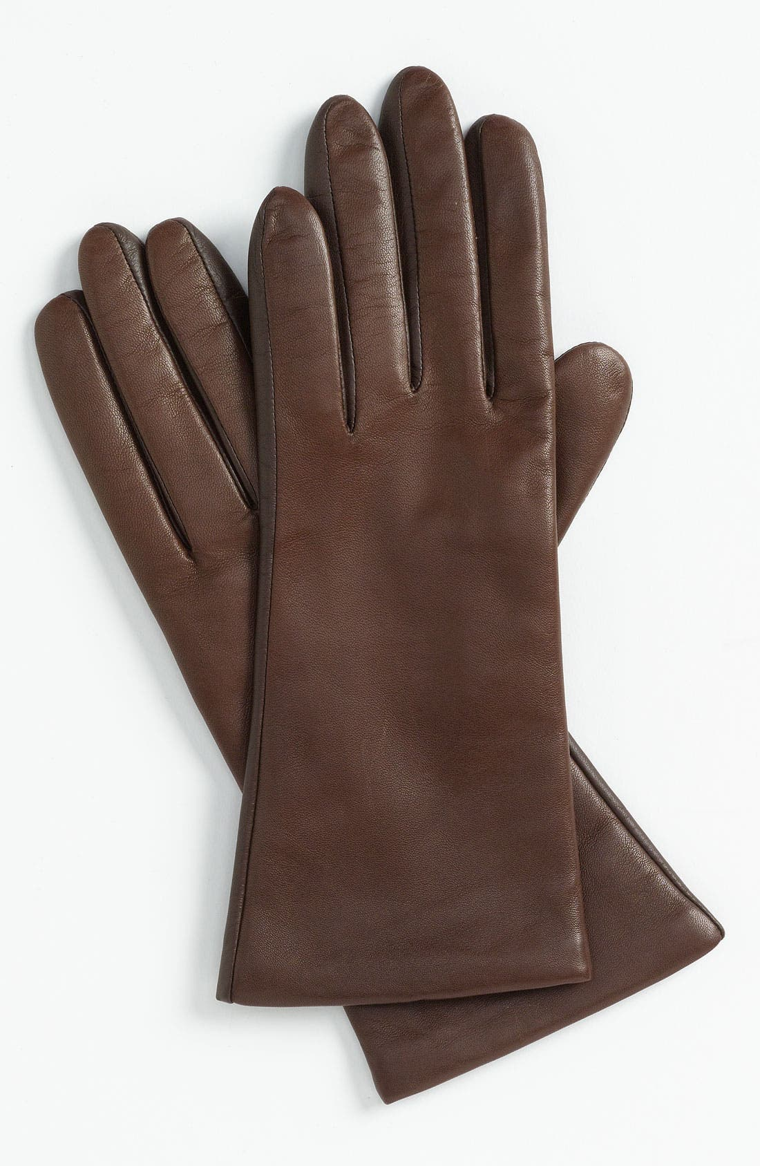 'Basic Tech' Cashmere Lined Leather Gloves,                             Main thumbnail 2, color,