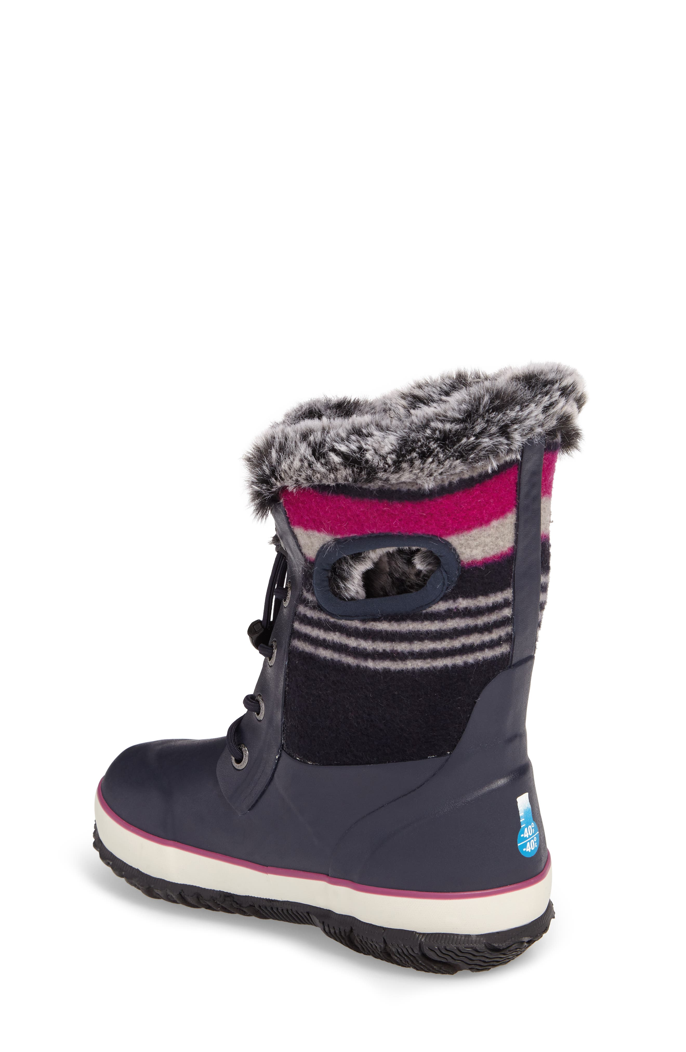 Arcata Stripe Waterproof Insulated Faux Fur Boot,                             Alternate thumbnail 5, color,