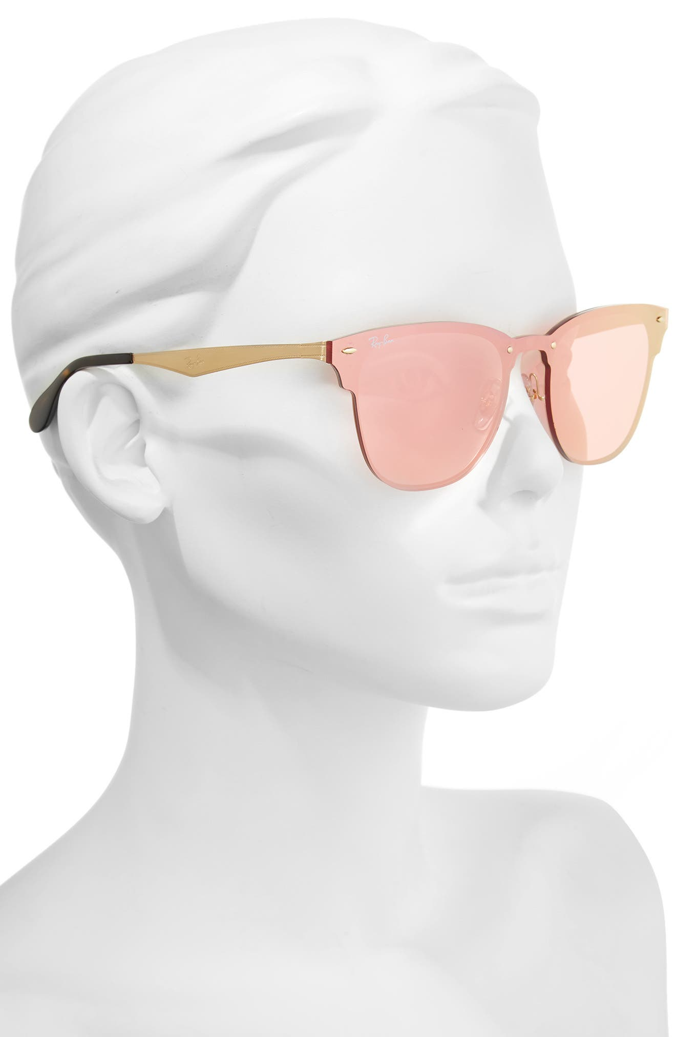50mm Round Clubmaster Sunglasses,                             Alternate thumbnail 7, color,