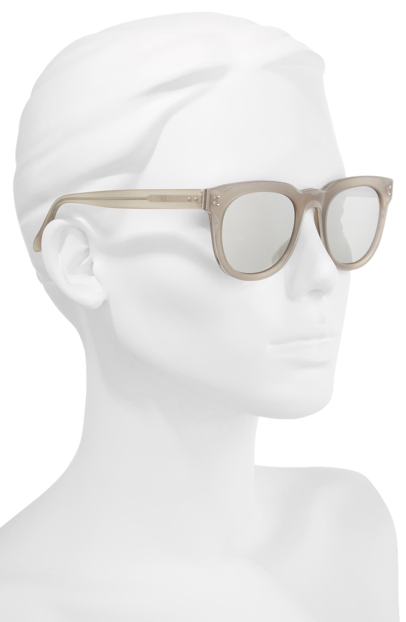 50mm D-Frame Mirrored Sunglasses,                             Alternate thumbnail 2, color,                             020