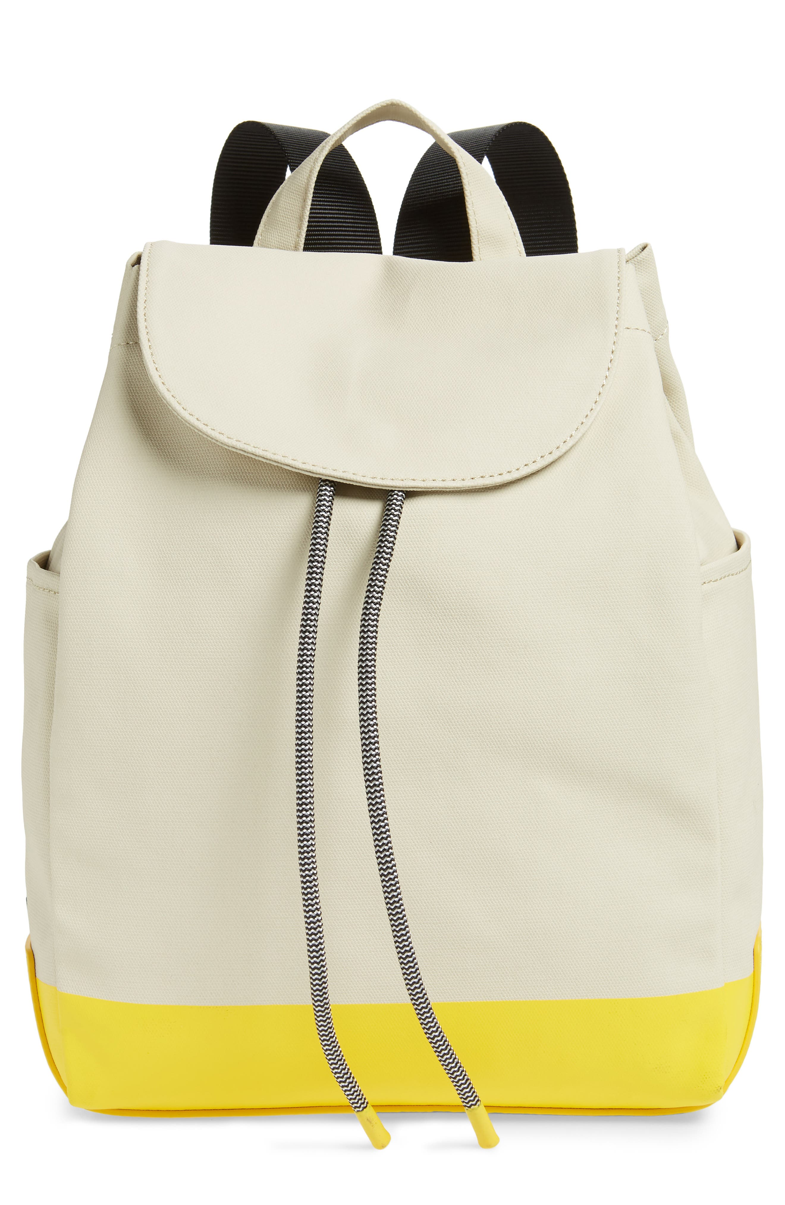 Penny Flap Backpack, Main, color, IVORY BIRCH/YELLOW
