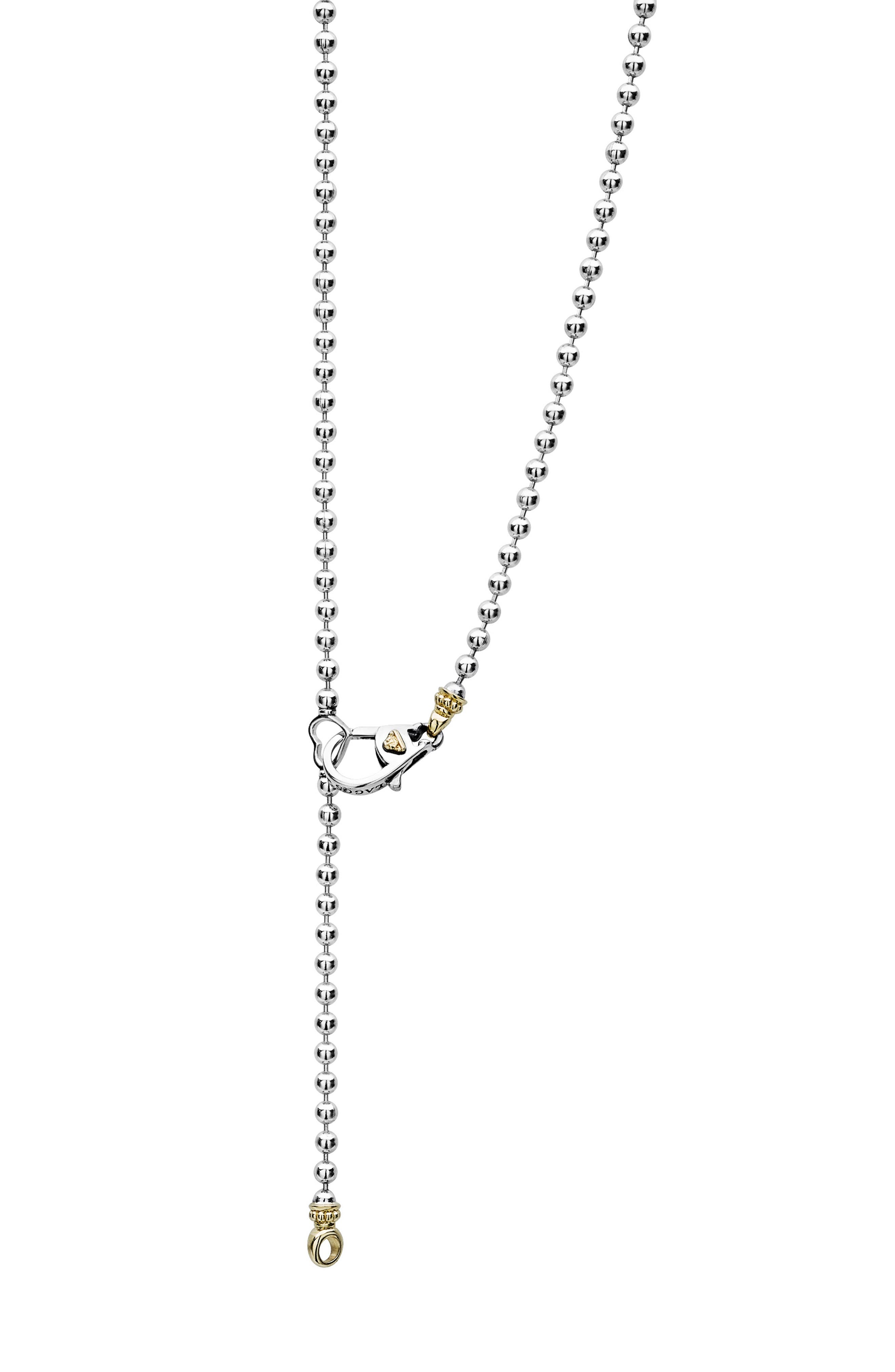 Beloved Oval Plate Chain Necklace,                             Alternate thumbnail 5, color,                             SILVER