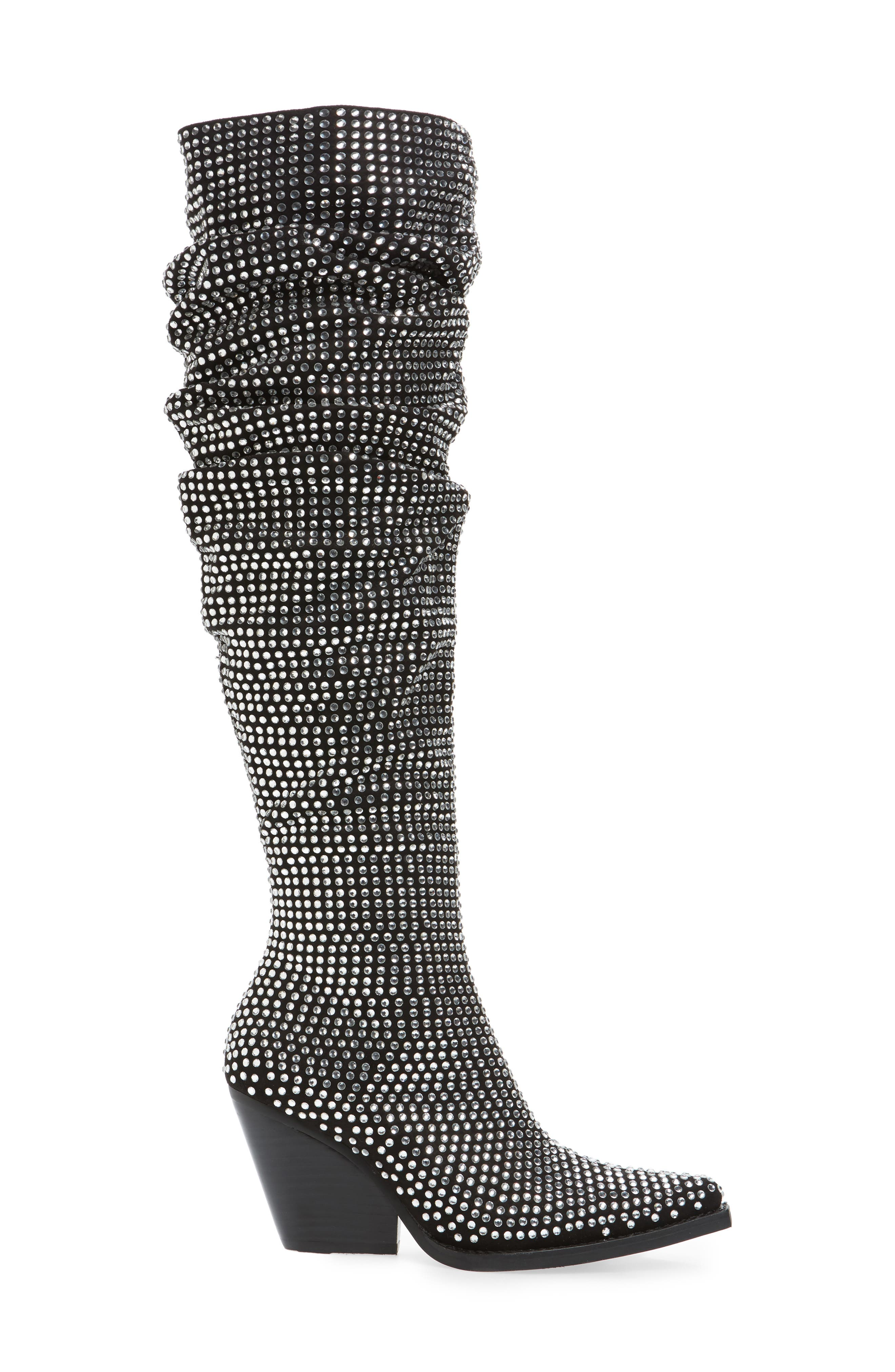 Controlla Slouch Over the Knee Boot,                             Alternate thumbnail 3, color,                             007