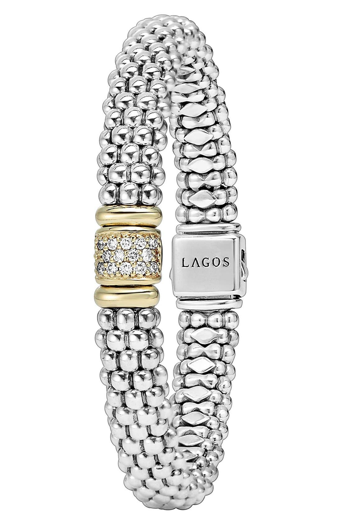 Diamond & Caviar Station Bracelet,                             Alternate thumbnail 2, color,                             040