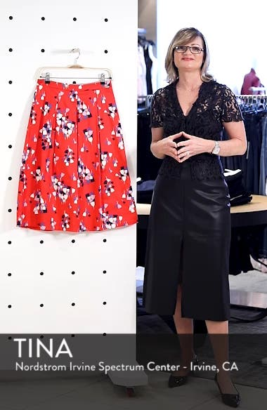 Lola Floral Flared Skirt, sales video thumbnail