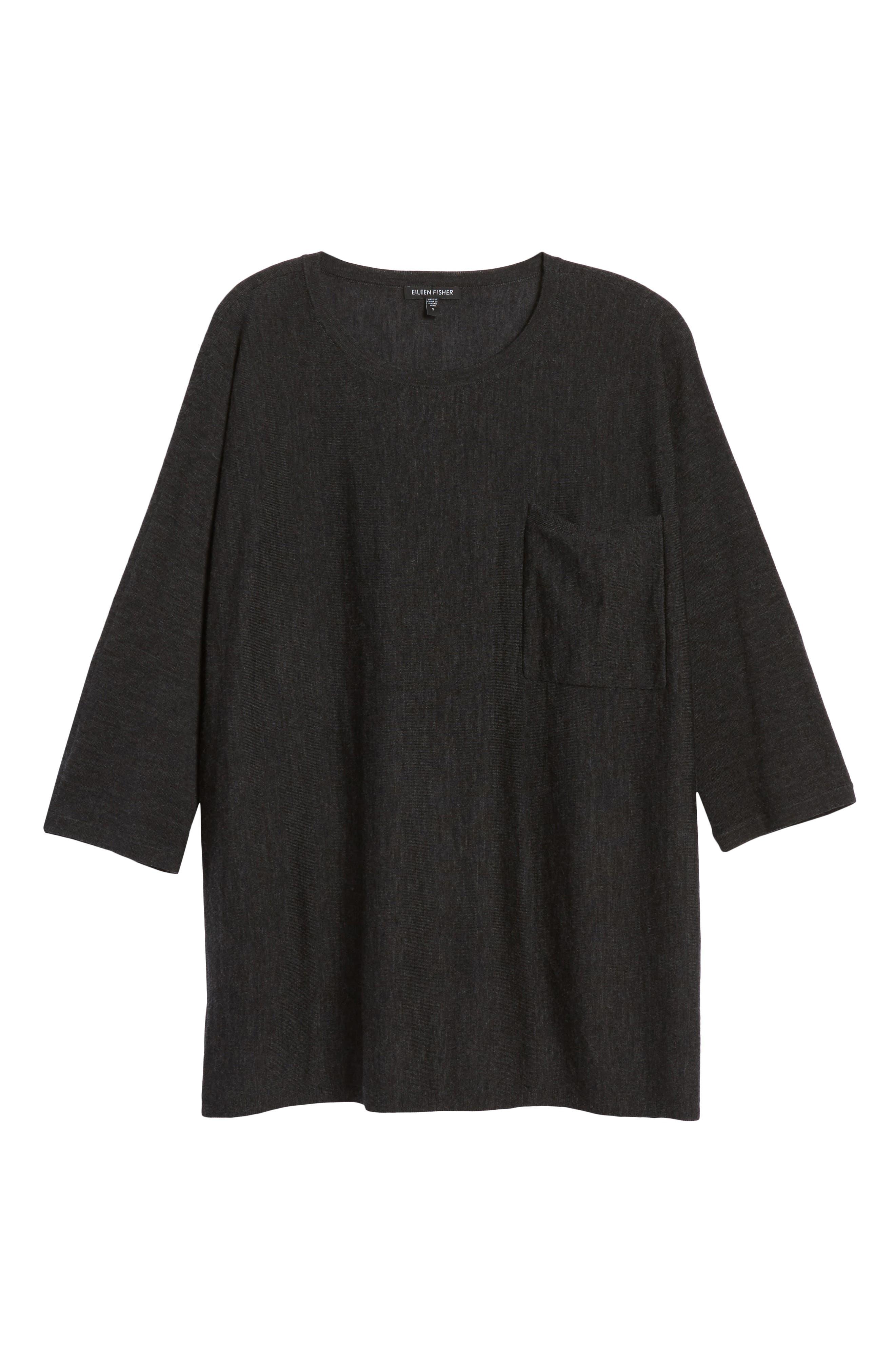 Lightweight Merino Wool Sweater,                             Alternate thumbnail 6, color,                             021