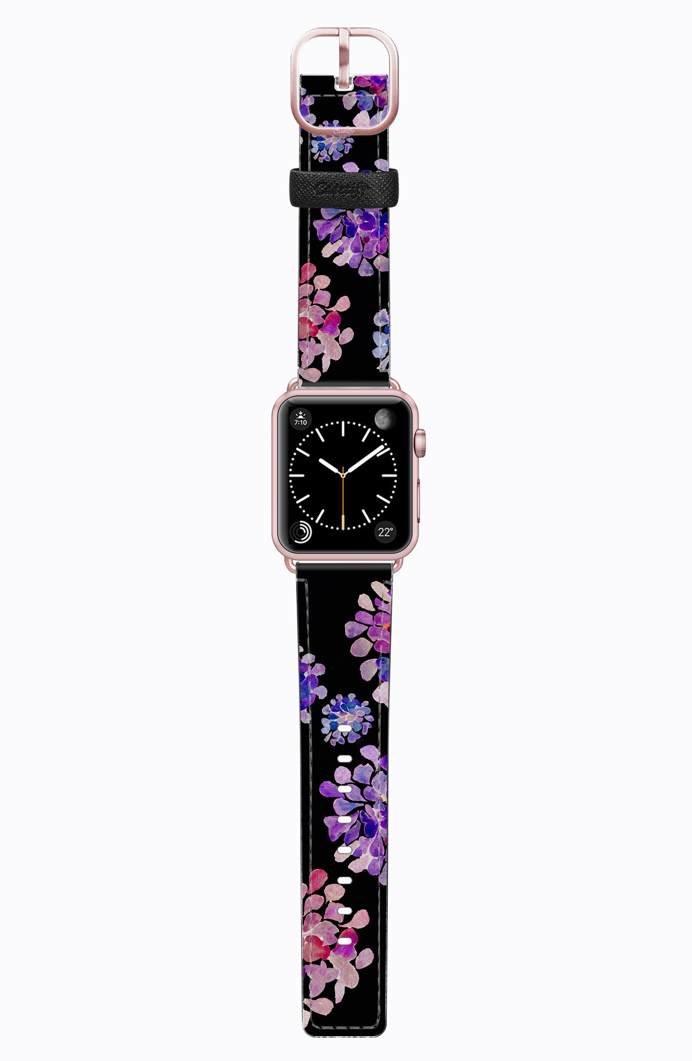 Saffiano Faux Leather Apple Watch Strap,                             Main thumbnail 10, color,