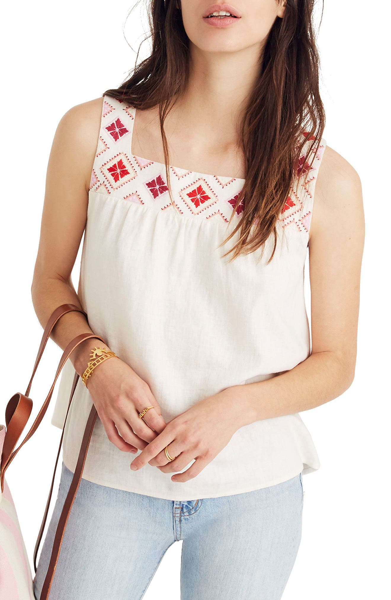Embroidered Island Tank,                         Main,                         color, 900
