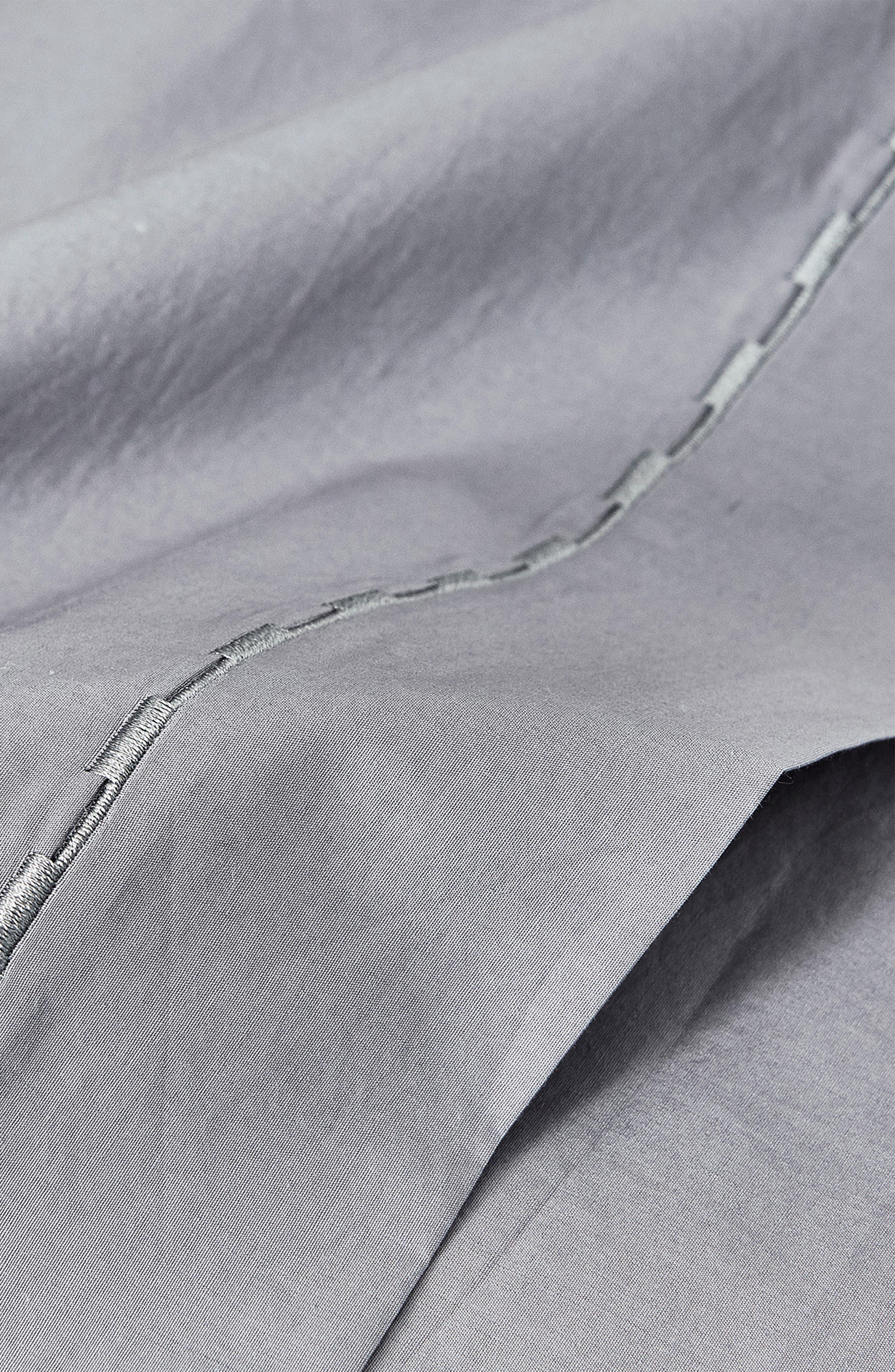 Cotton Percale Sheet Set,                             Alternate thumbnail 2, color,                             GREY-BLUE