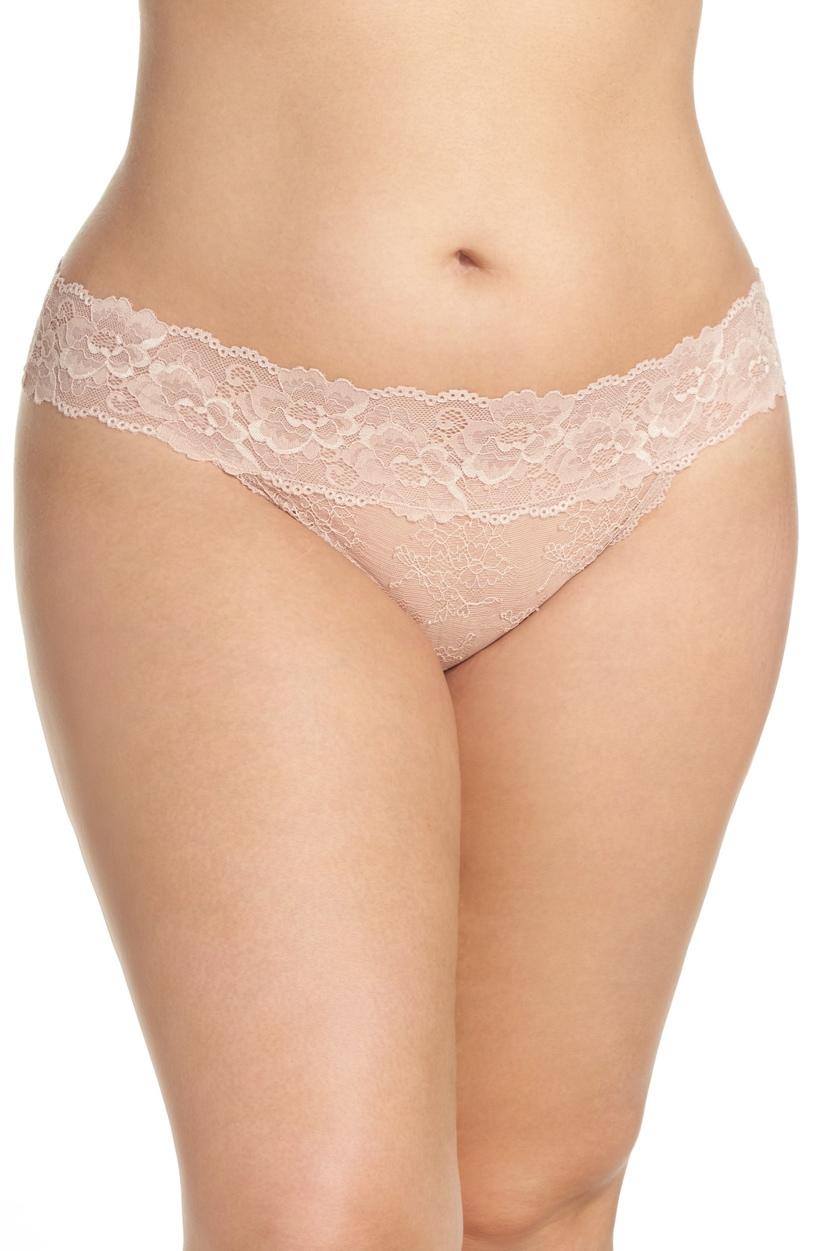 Honeydew Lace Thong,                             Alternate thumbnail 55, color,