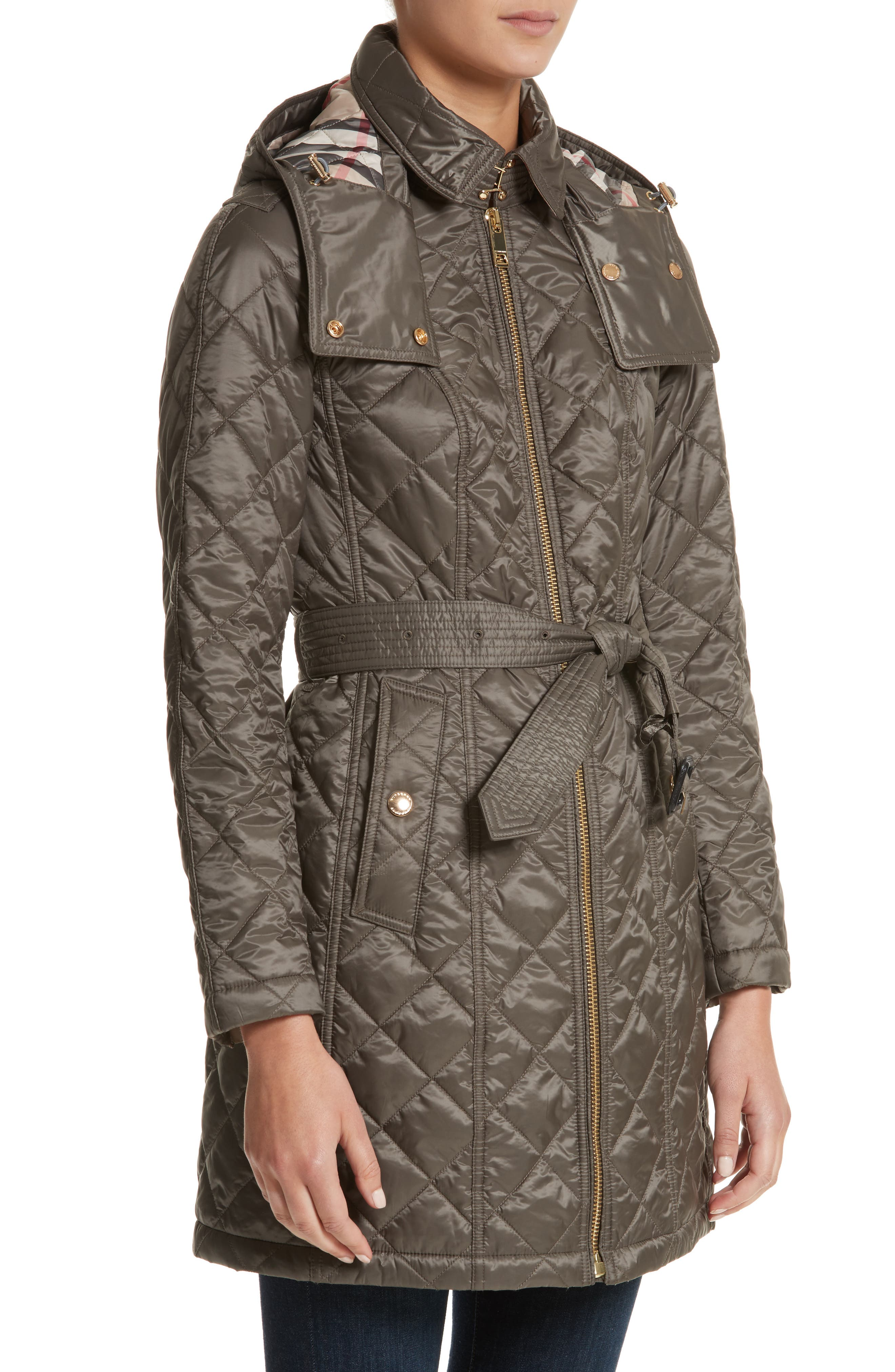 Baughton Quilted Coat,                             Alternate thumbnail 4, color,                             MINK GREY